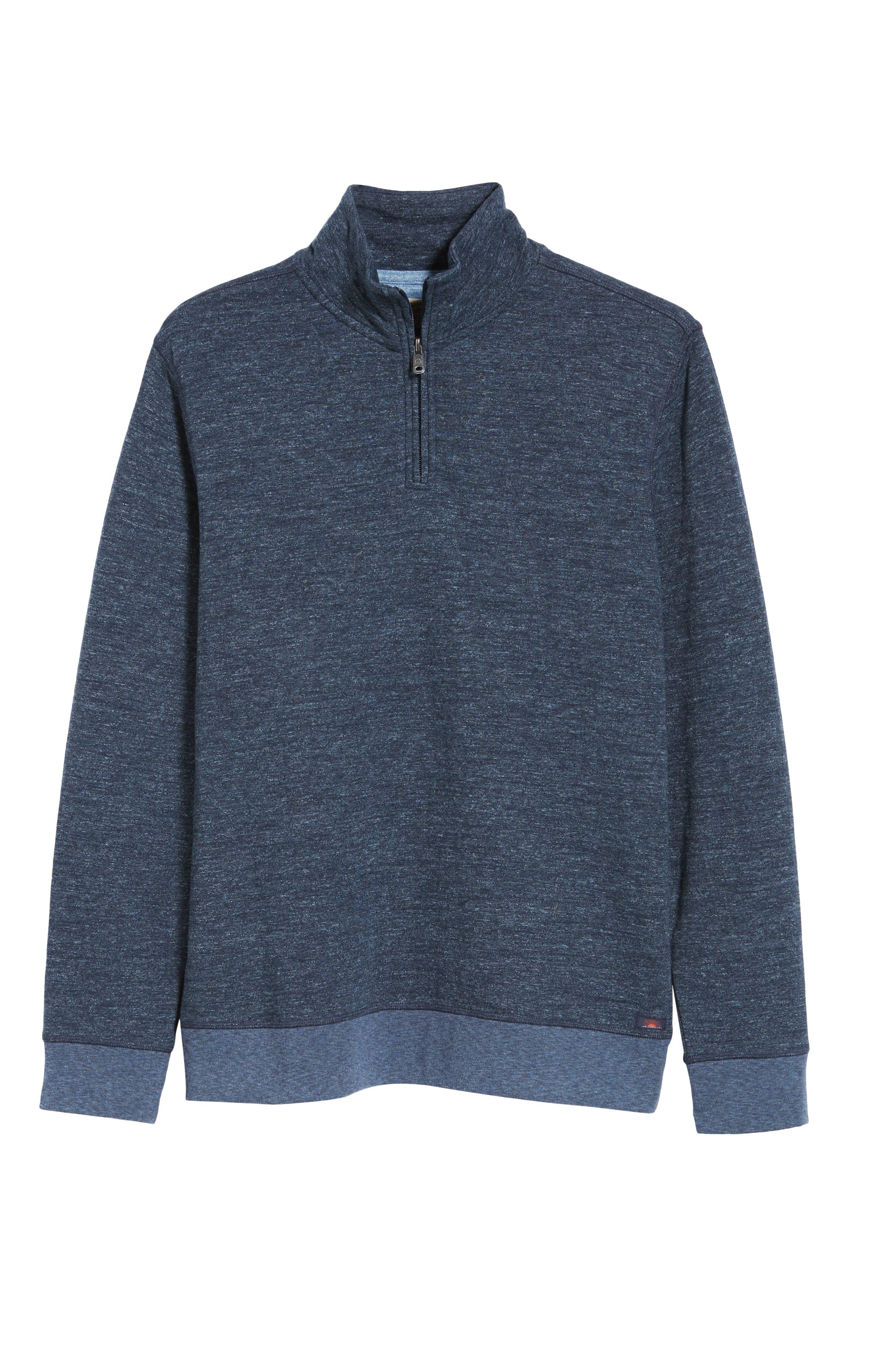 Brand Dual Knit Regular Fit Quarter Zip Pullover,                             Alternate thumbnail 6, color,                             NAVY