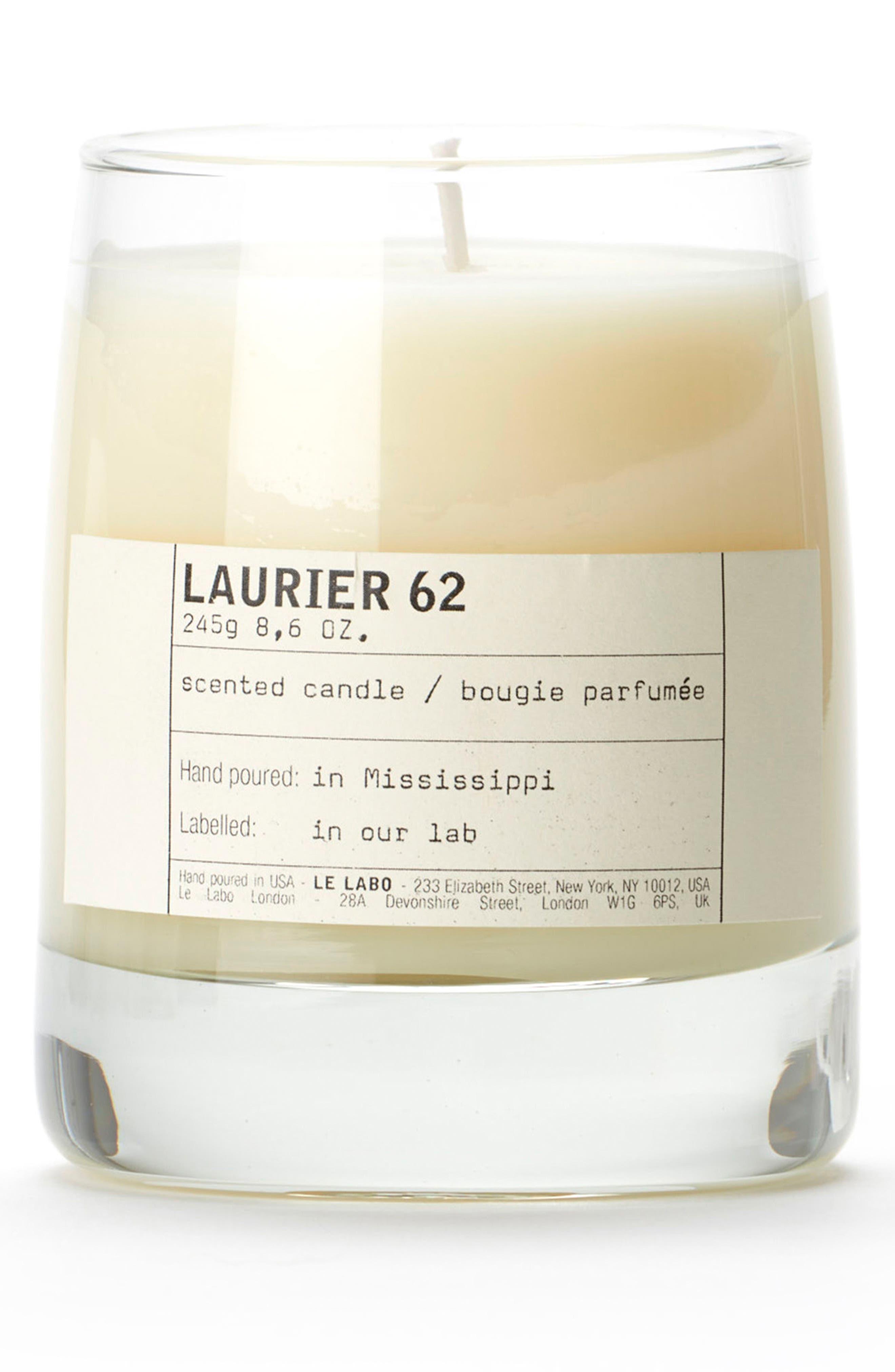 'Laurier 62' Classic Candle,                             Main thumbnail 1, color,                             000