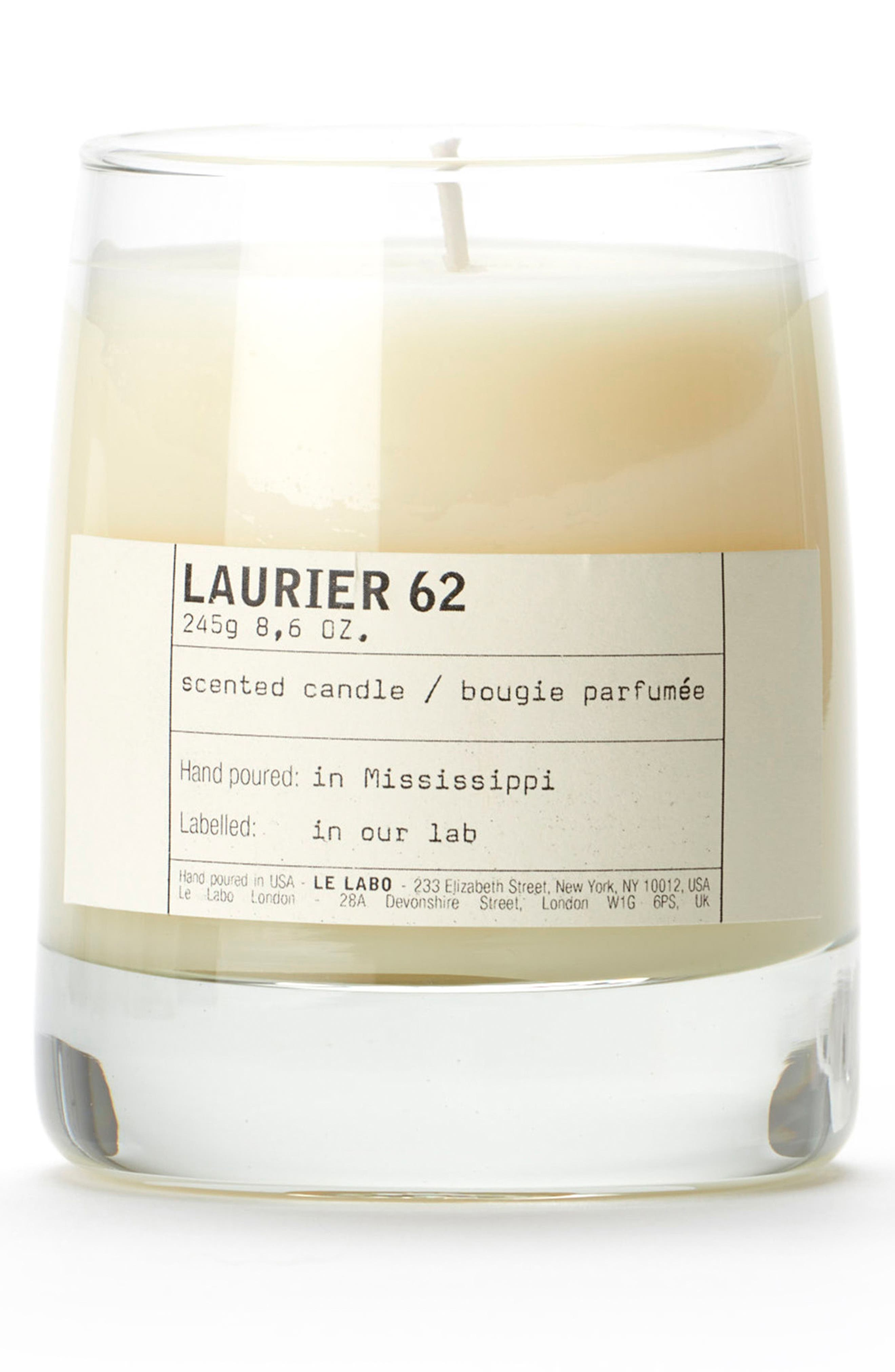 'Laurier 62' Classic Candle,                         Main,                         color, 000