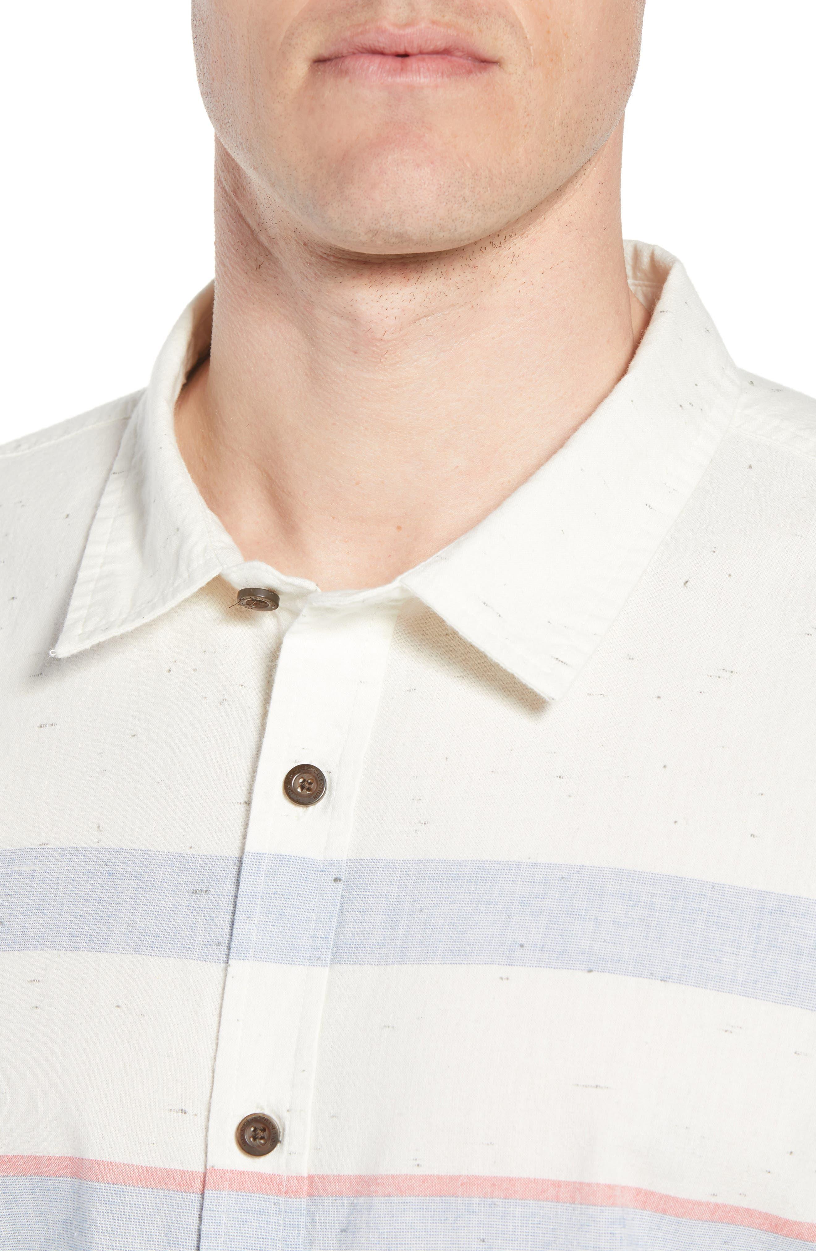 Charter Regular Fit Short Sleeve Sport Shirt,                             Alternate thumbnail 4, color,                             WHITE