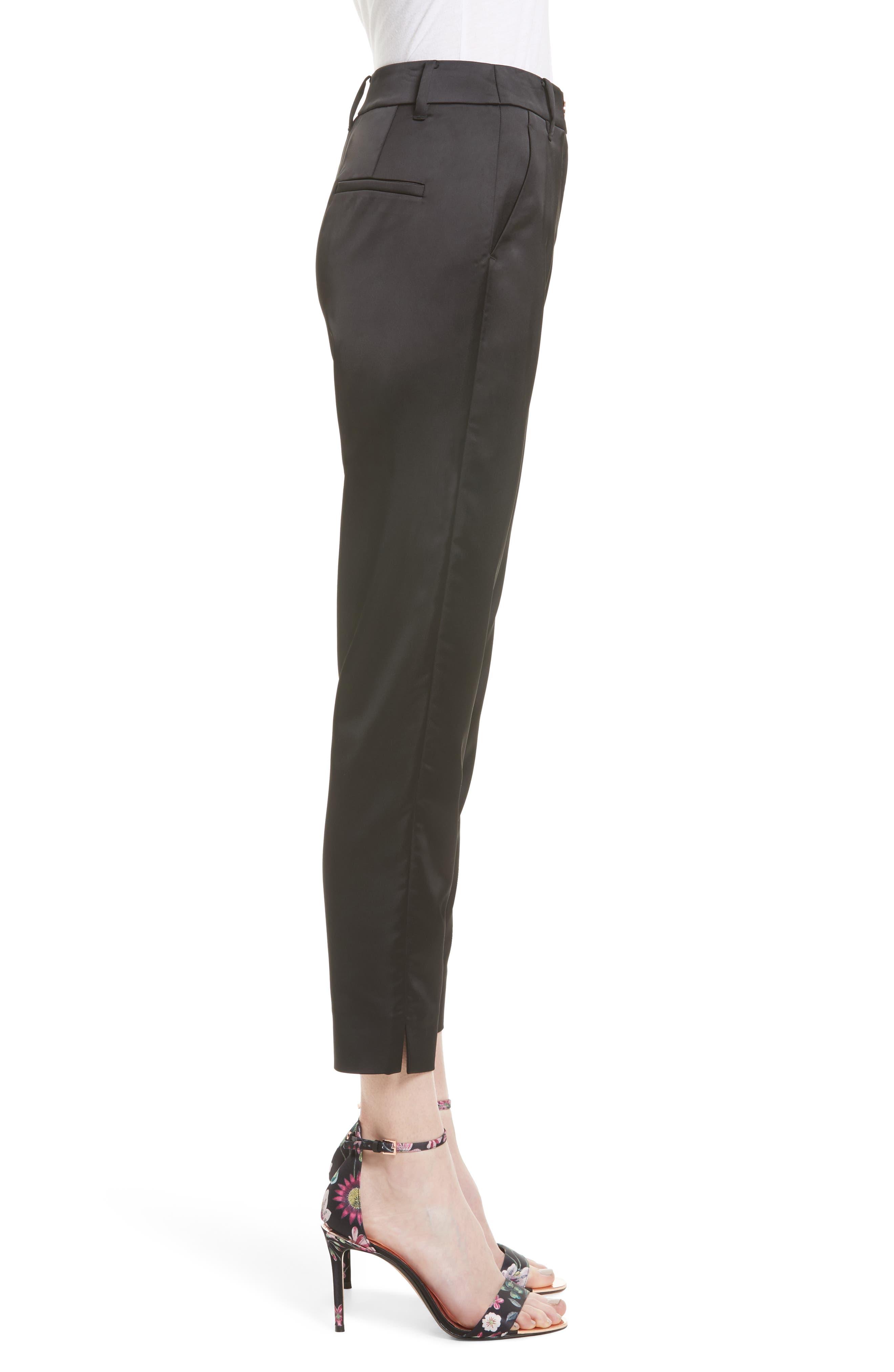 Gilar Slit Cuff Ankle Pants,                             Alternate thumbnail 3, color,                             001