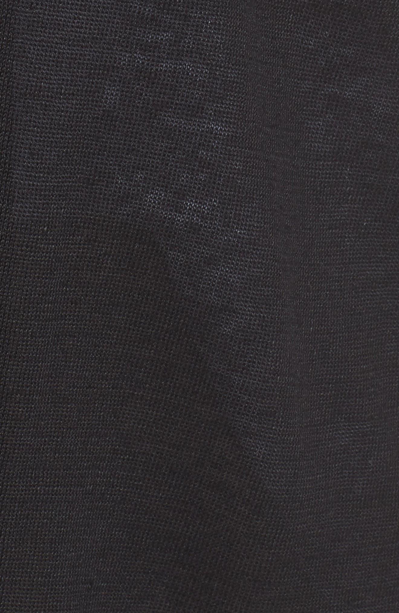 Organic Linen Cardigan,                             Alternate thumbnail 6, color,                             001