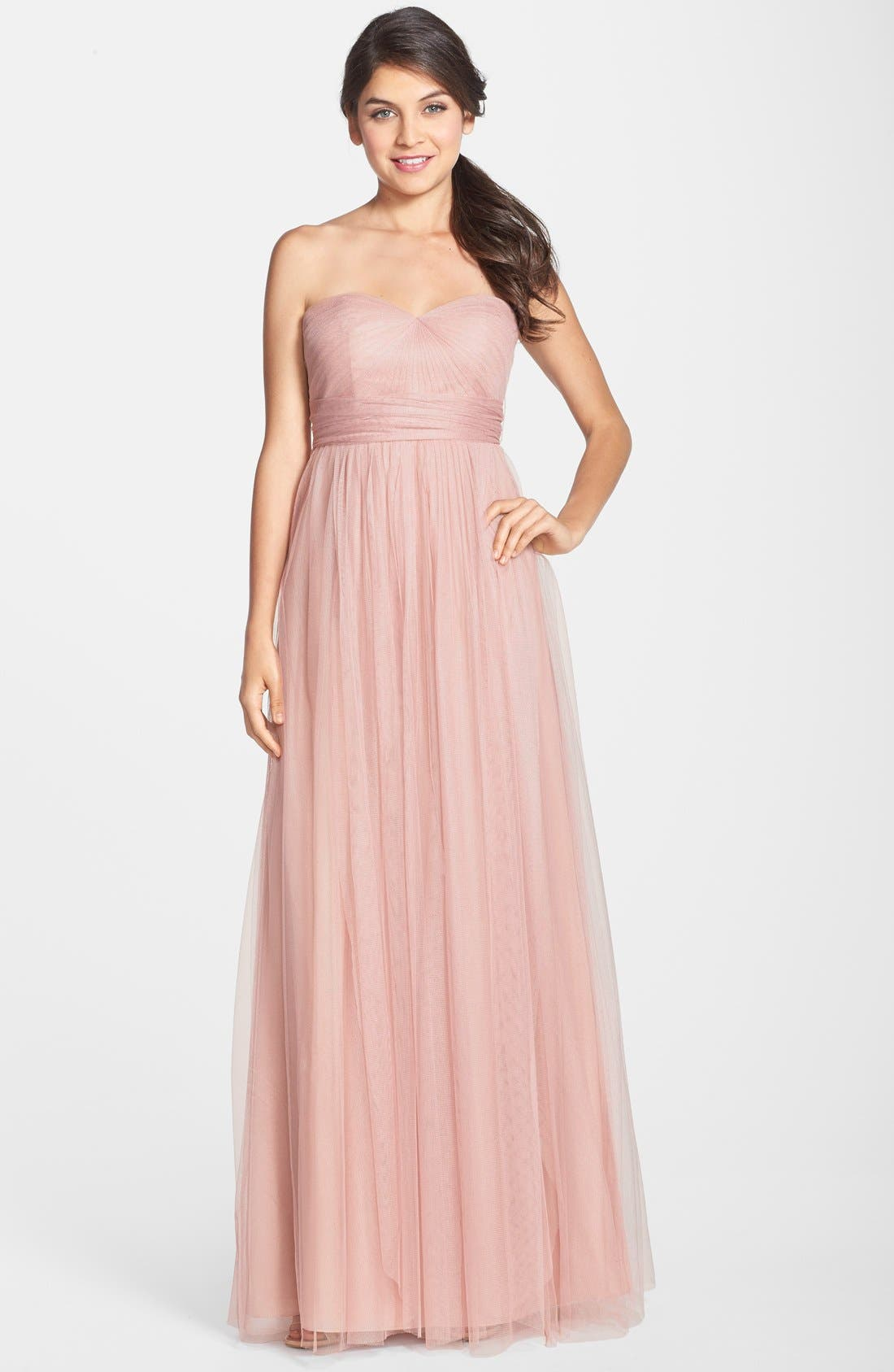 Annabelle Convertible Tulle Column Dress,                             Main thumbnail 18, color,