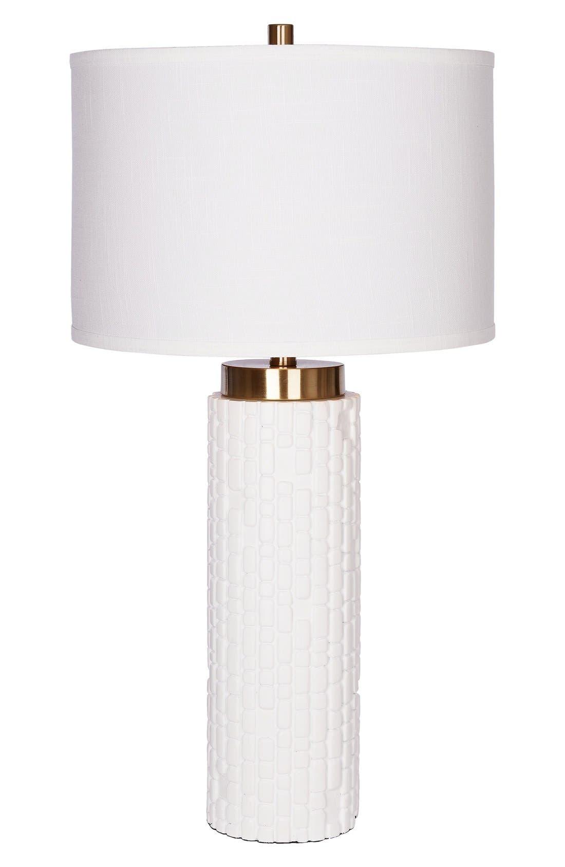JAlexander Mya Cylinder Table Lamp,                         Main,                         color, WHITE