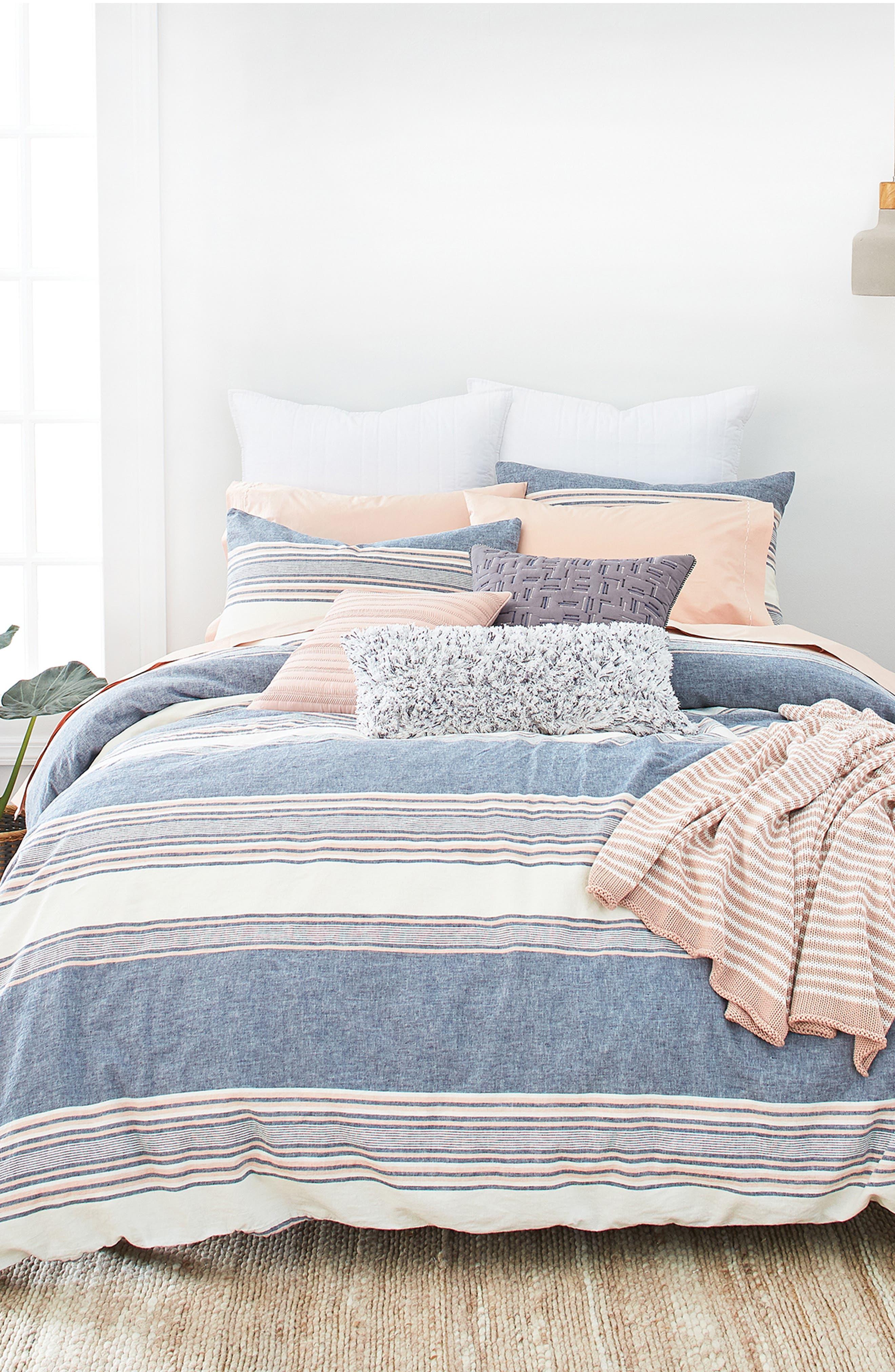 Tuscan Stripe Duvet Cover & Sham Set,                         Main,                         color,