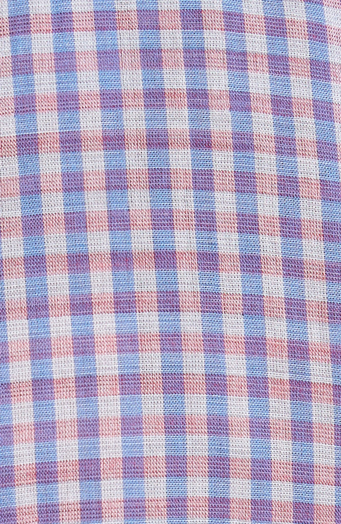 Dual Lux Gingham Sport Shirt,                             Alternate thumbnail 5, color,