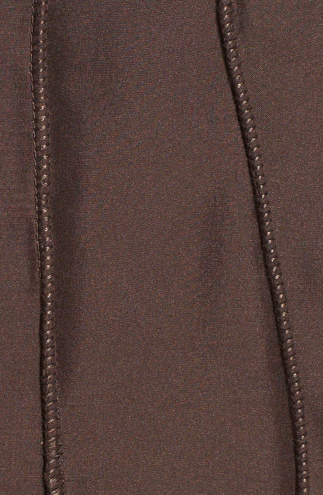 GeorgeSimonton Reversible Silk & Genuine Fox Fur Topper,                             Alternate thumbnail 28, color,