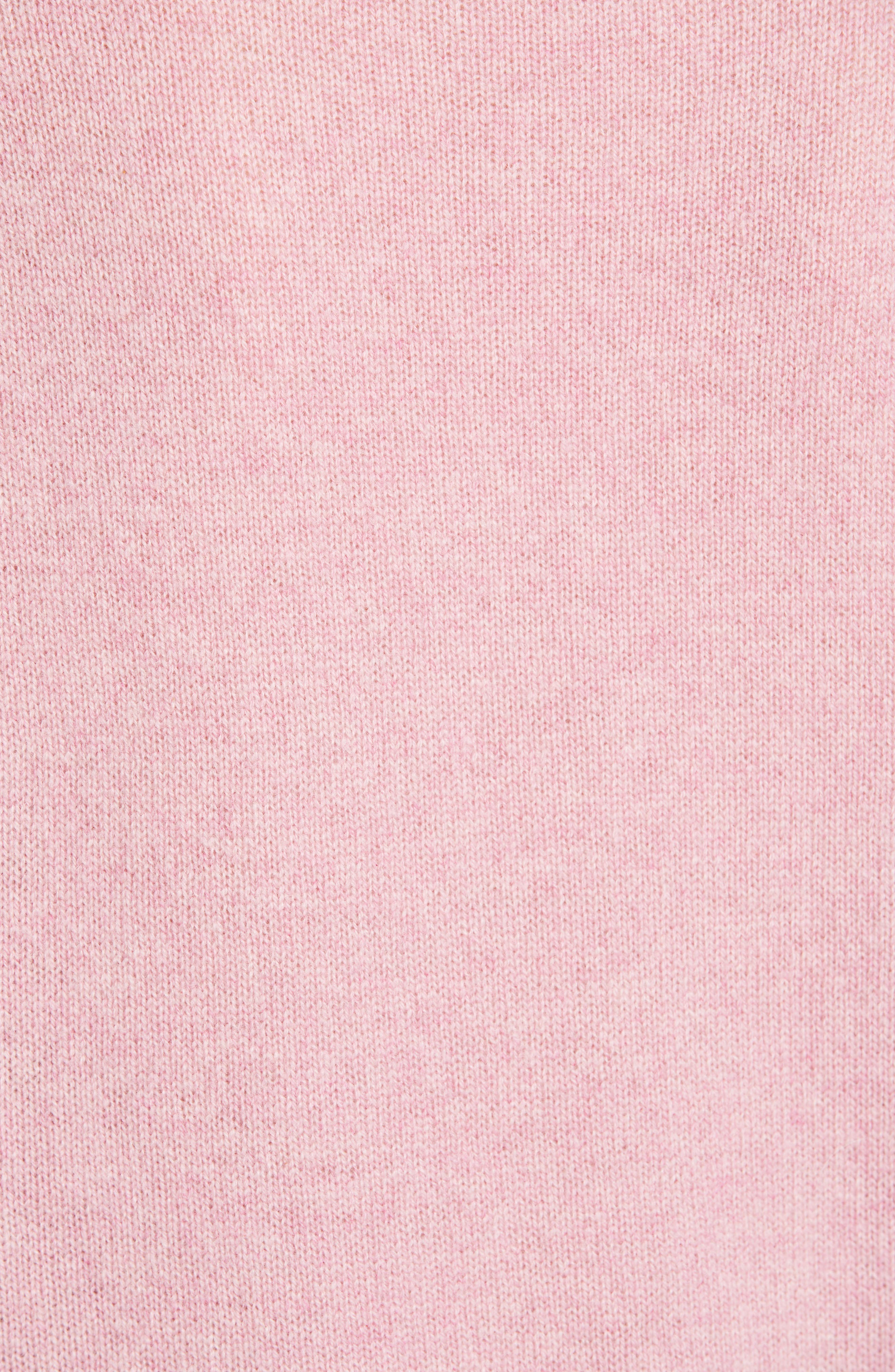 Cashmere Sweater,                             Alternate thumbnail 5, color,                             PINK