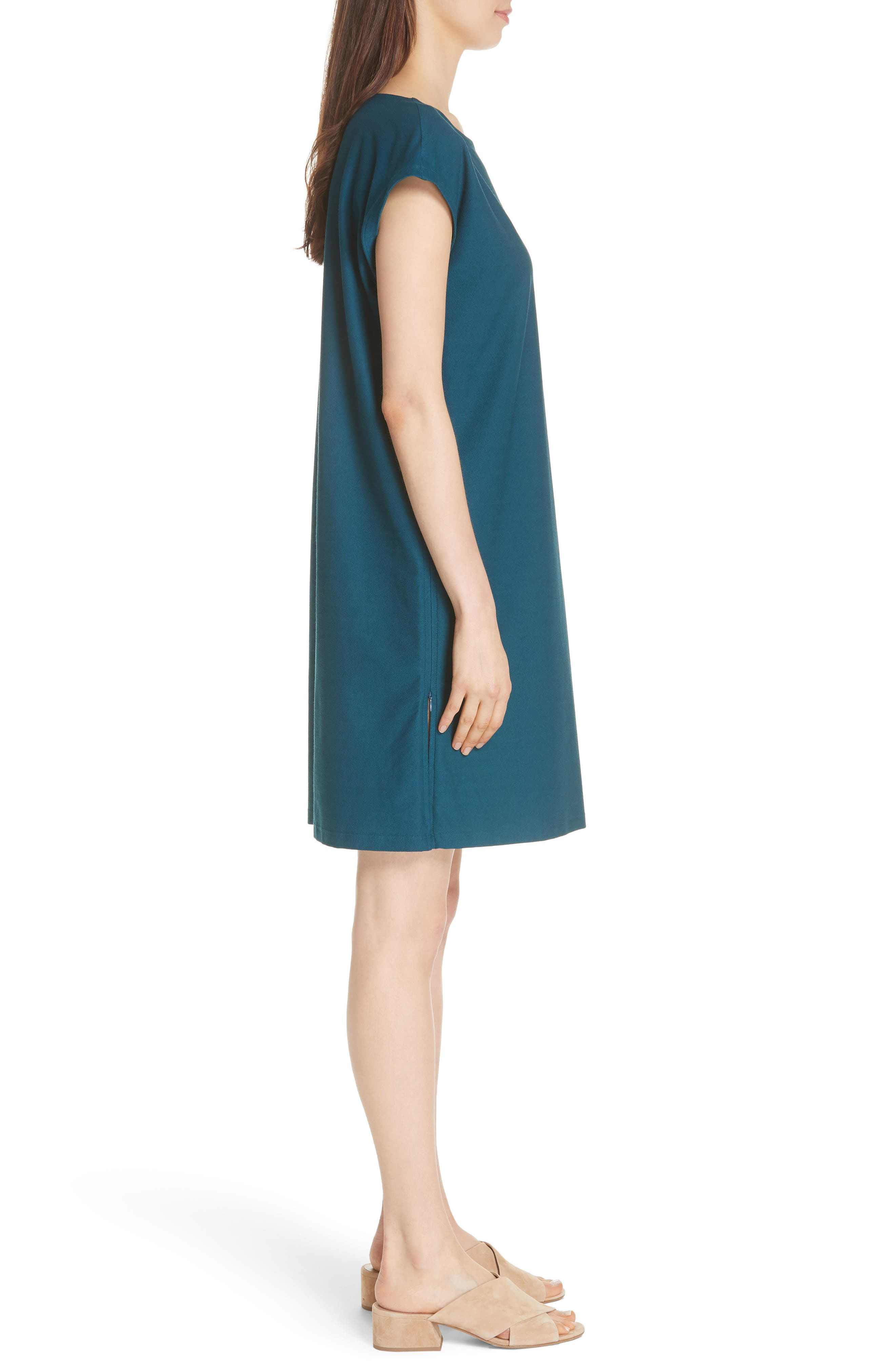 Side Zip Layering Dress,                             Alternate thumbnail 3, color,                             DARK JEWEL