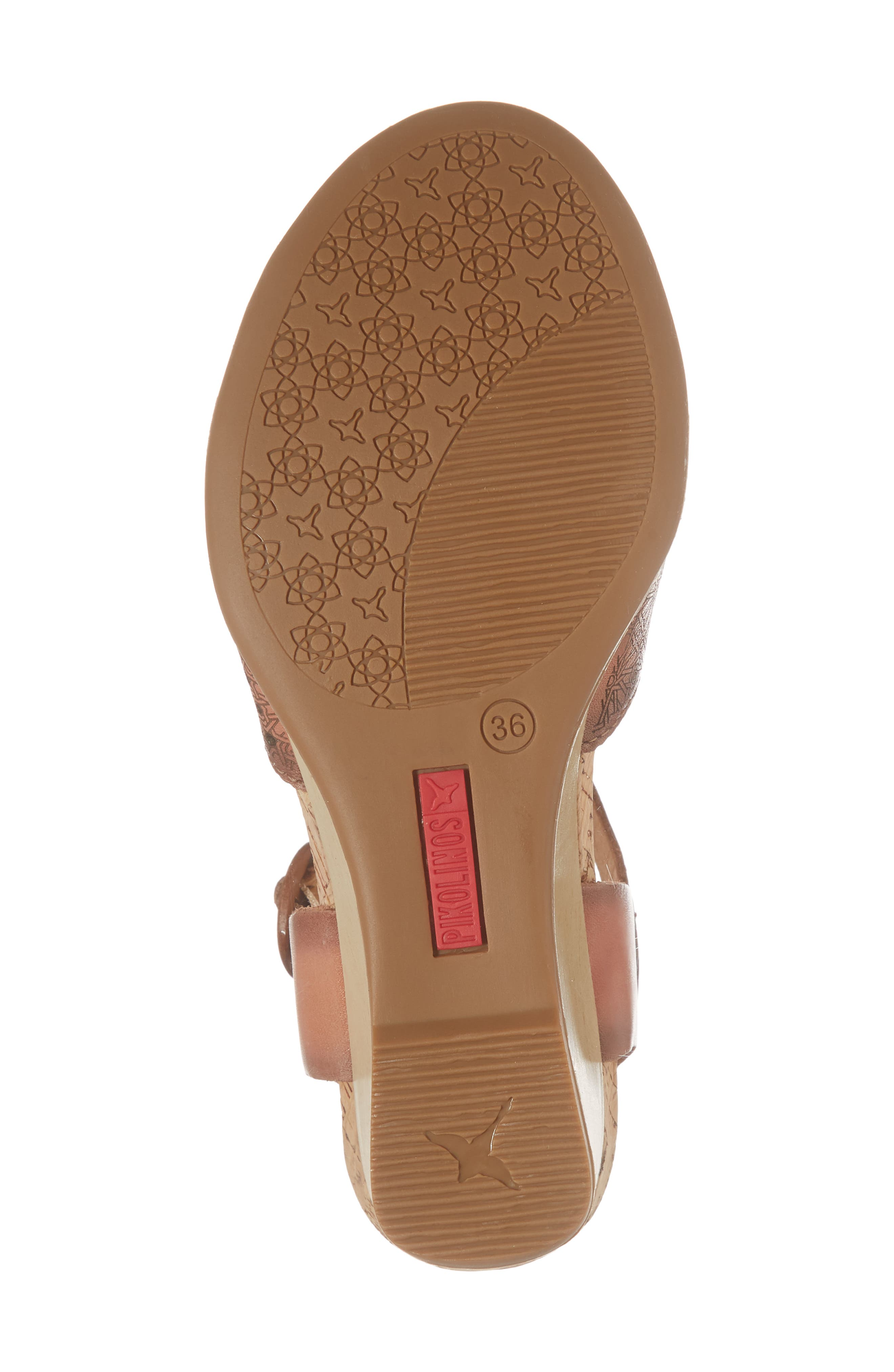 Vigo Wedge Sandal,                             Alternate thumbnail 6, color,                             FLAMINGO LEATHER