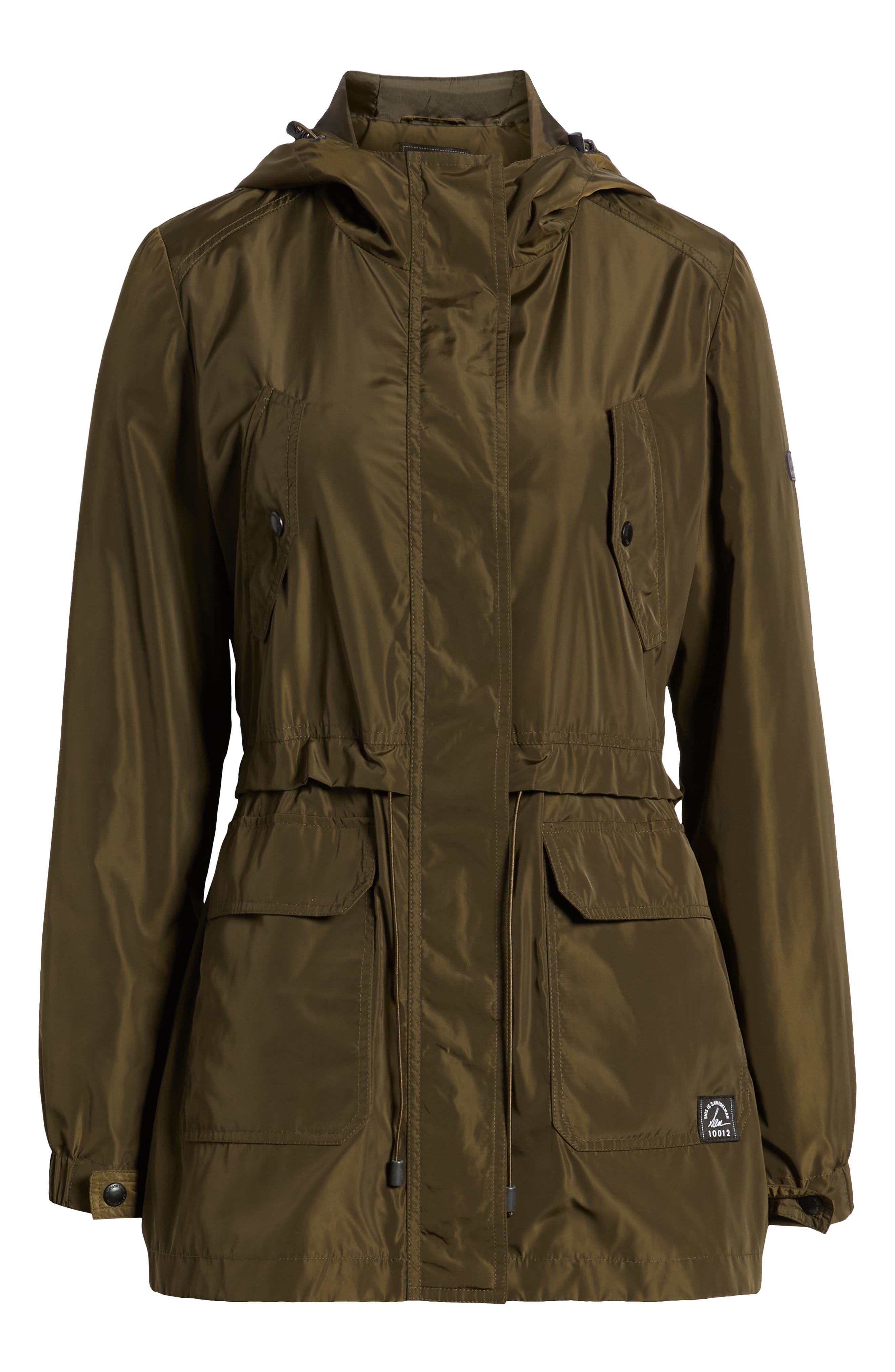 Hooded Water Resistant Parka,                             Alternate thumbnail 5, color,                             LODEN