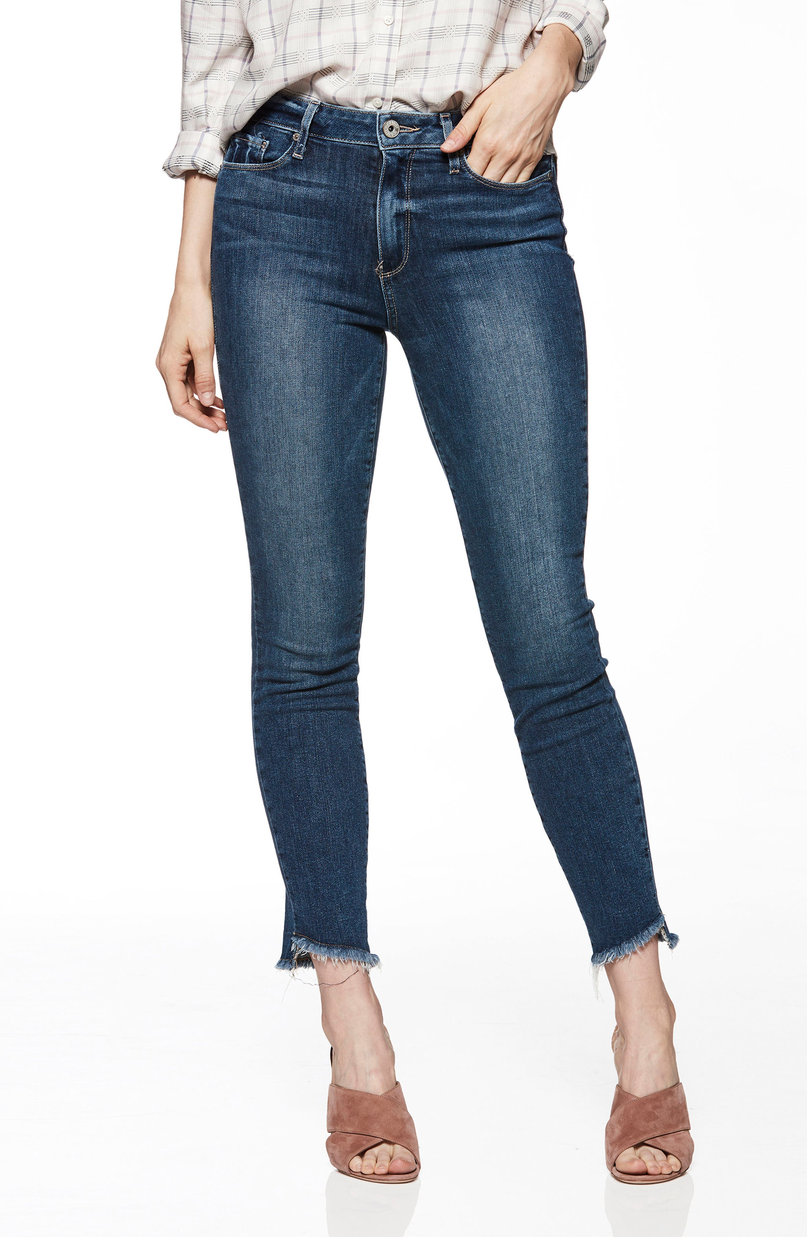 Hoxton High Waist Ankle Skinny Jeans,                             Main thumbnail 1, color,