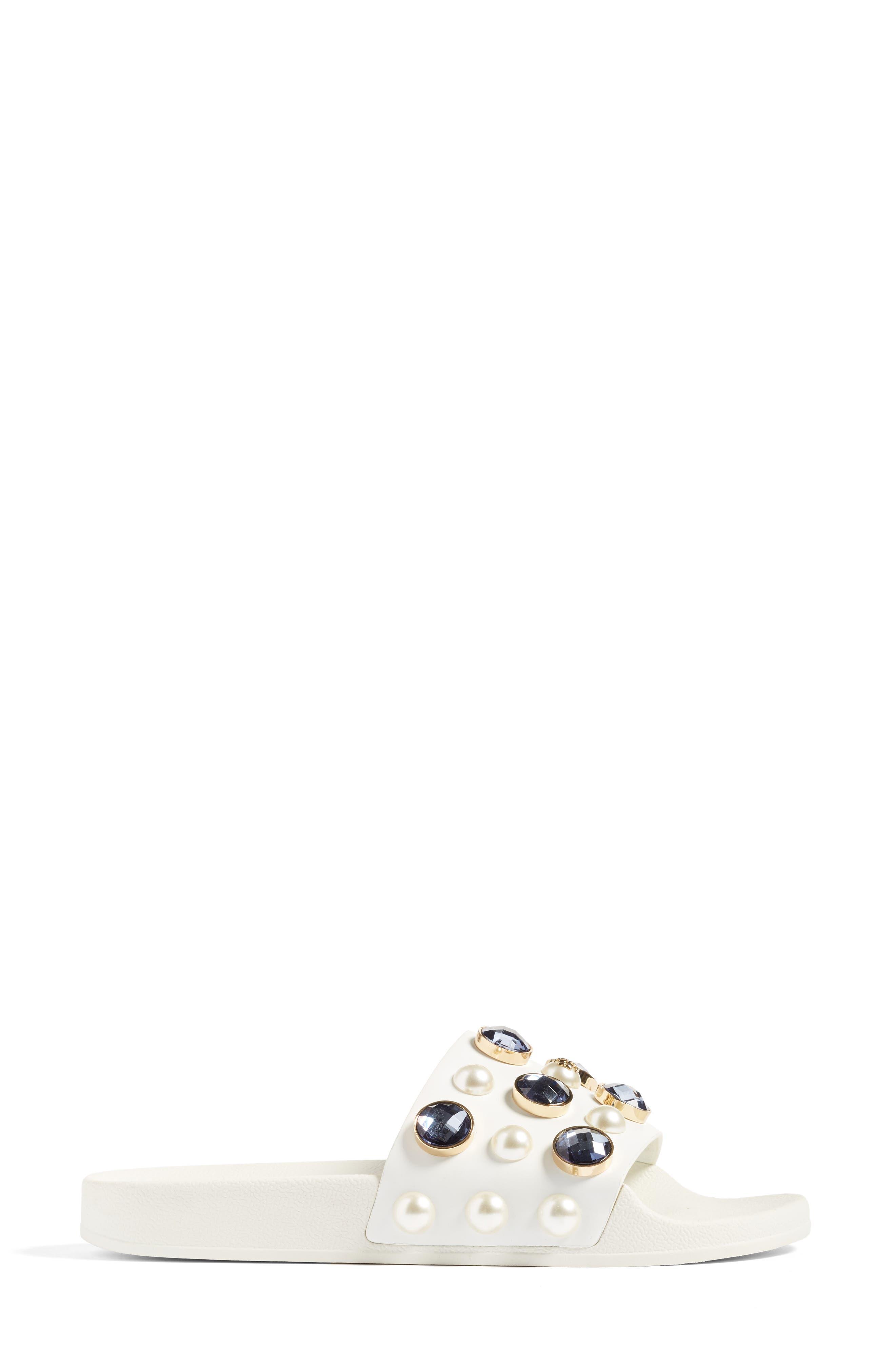 Vail Embellished Slide Sandal,                             Alternate thumbnail 2, color,                             100