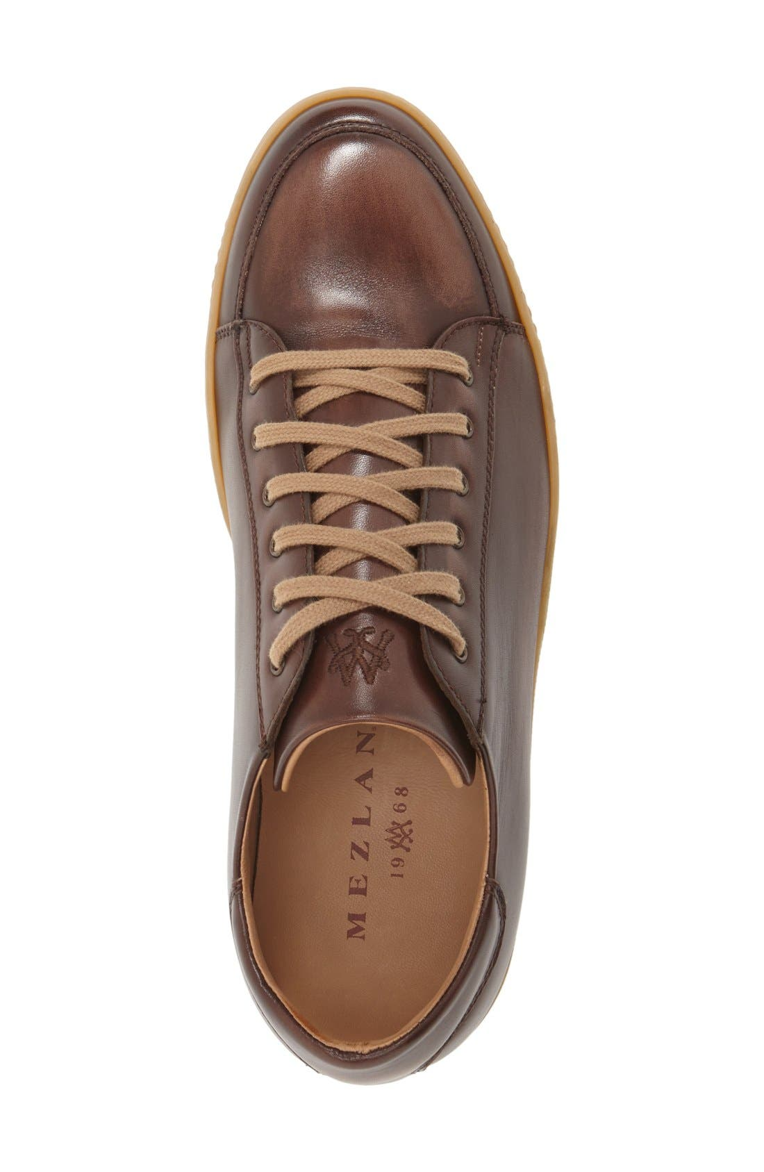 'Masi' Lace-Up Sneaker,                             Alternate thumbnail 3, color,                             BROWN