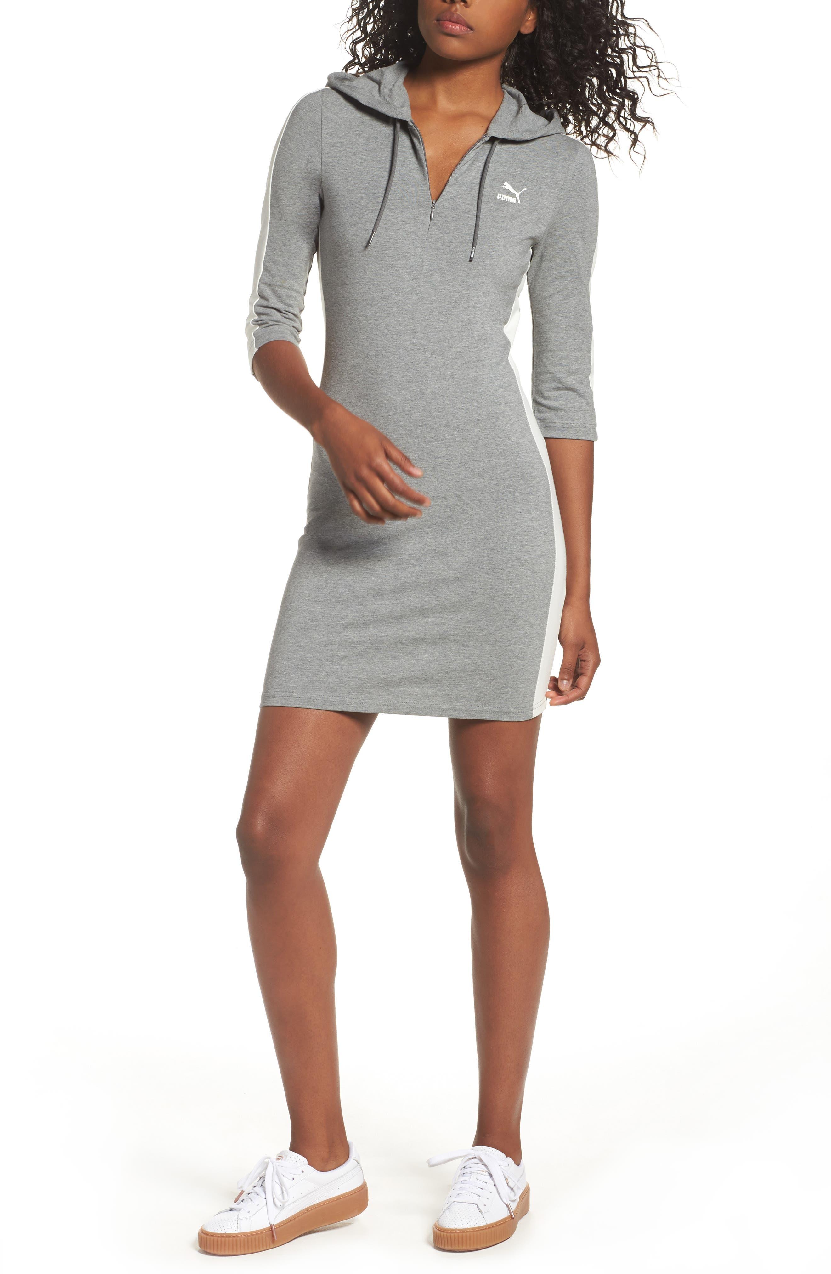 T7 Sweatshirt Dress,                             Main thumbnail 3, color,