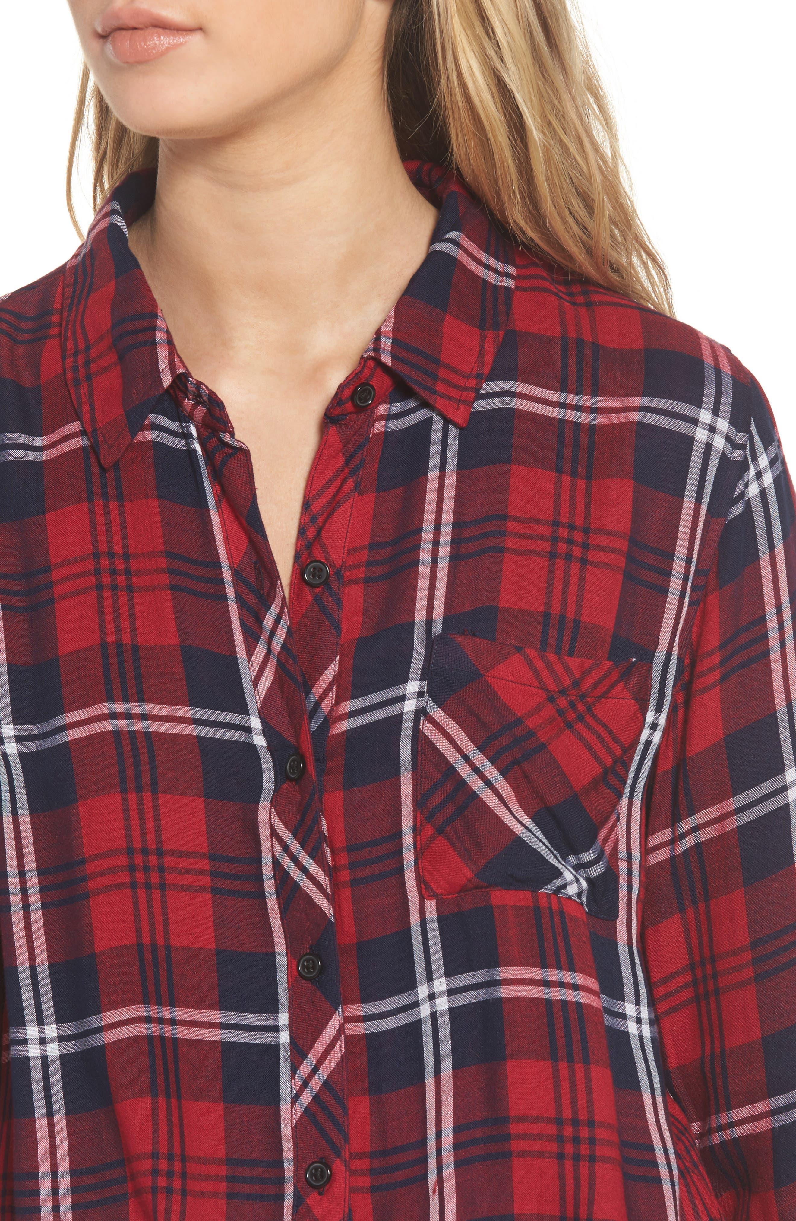 Taitum Plaid Shirt,                             Alternate thumbnail 4, color,                             622