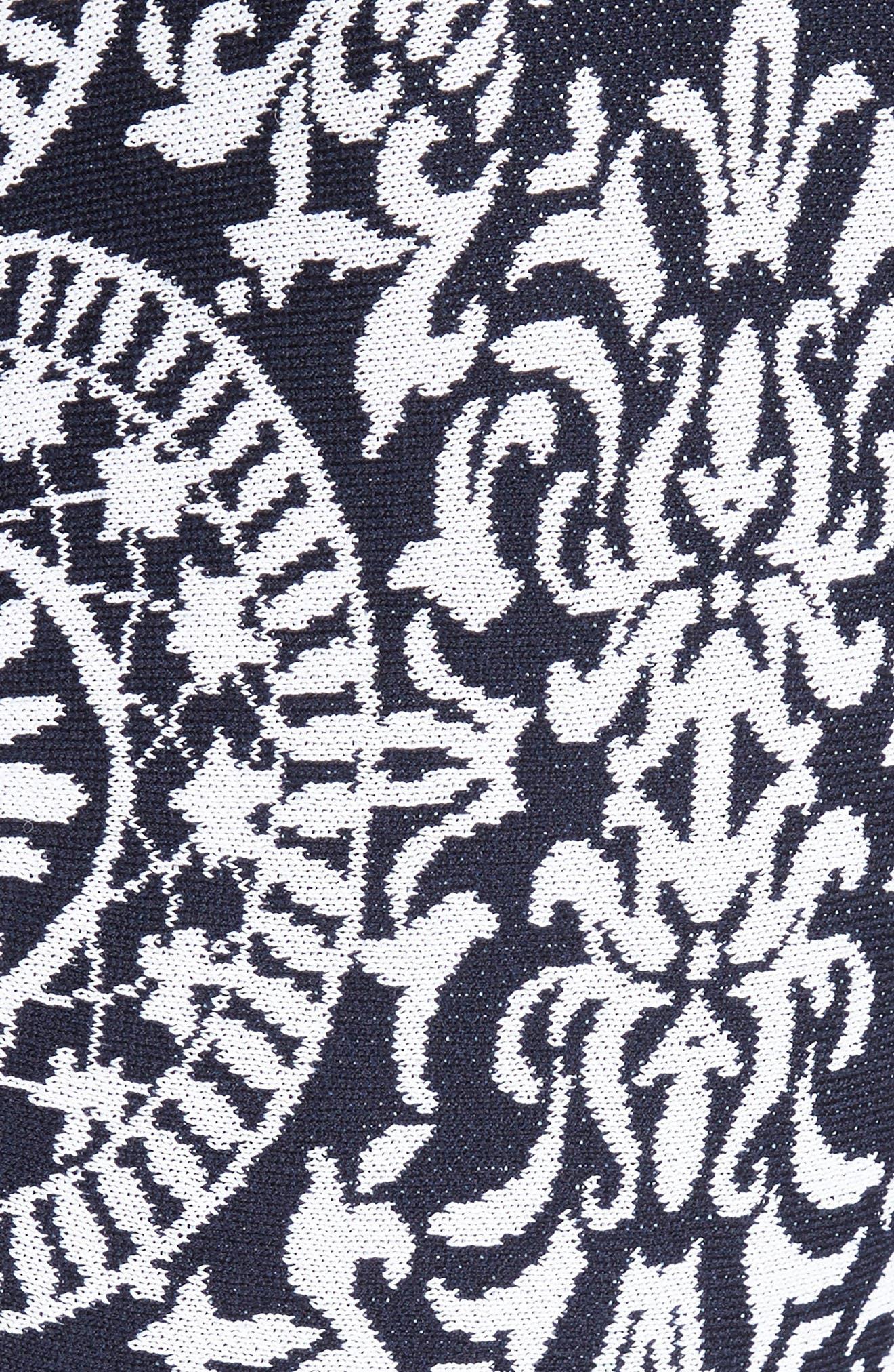 Nellore Jacquard Knit Fit & Flare Dress,                             Alternate thumbnail 6, color,                             410