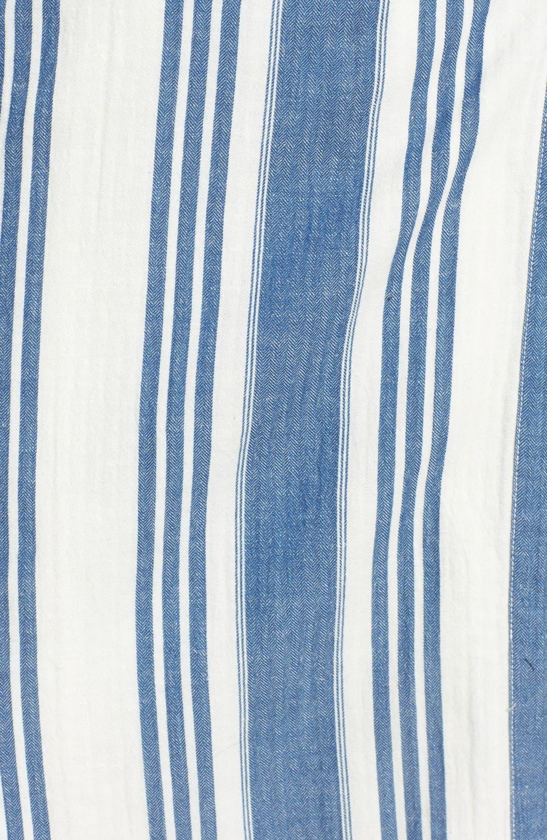 'Linn Stripe' Wrap Midi Dress,                             Alternate thumbnail 5, color,                             400