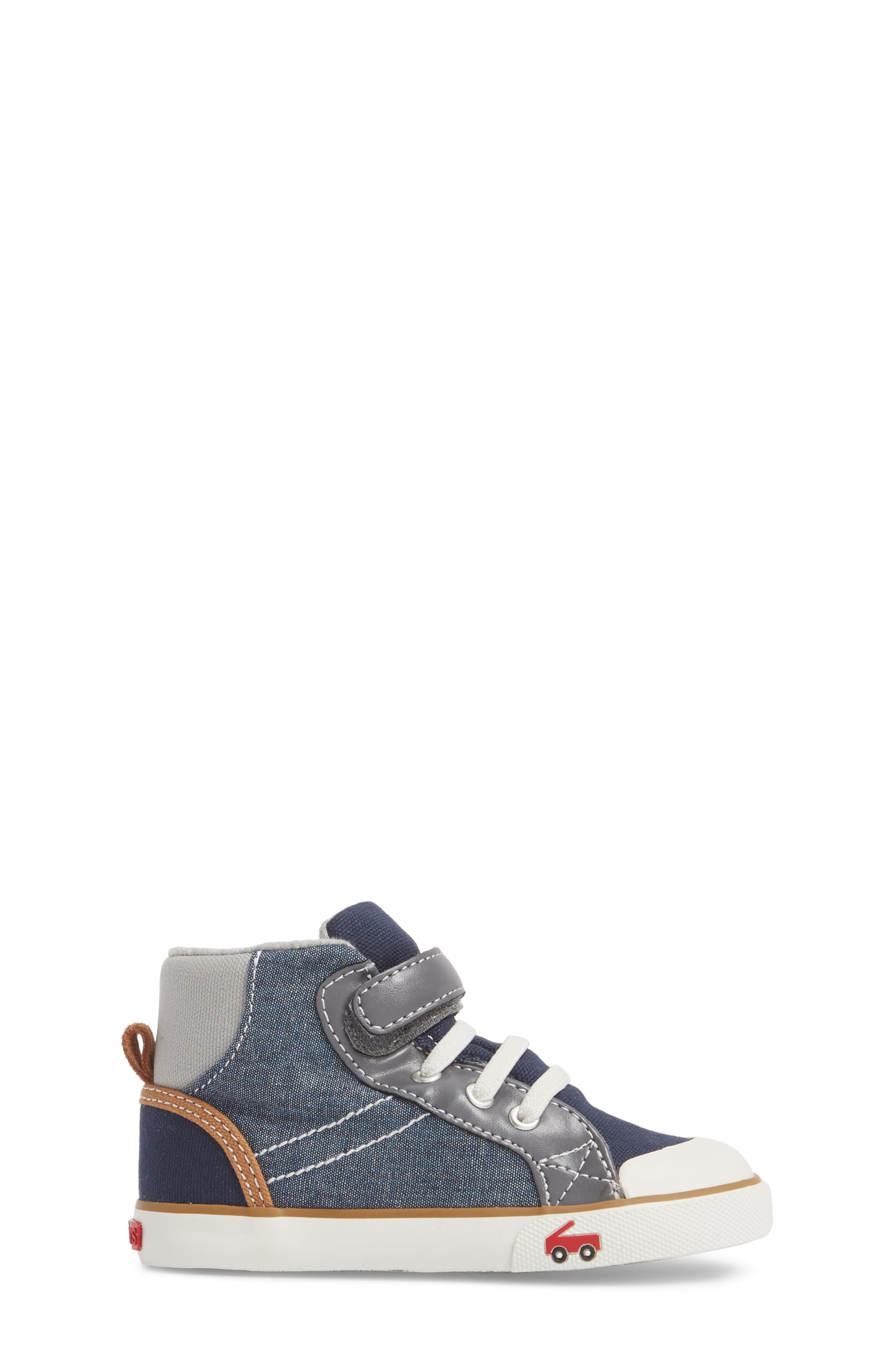 Dane Sneaker,                             Alternate thumbnail 3, color,                             CHAMBRAY MULTI