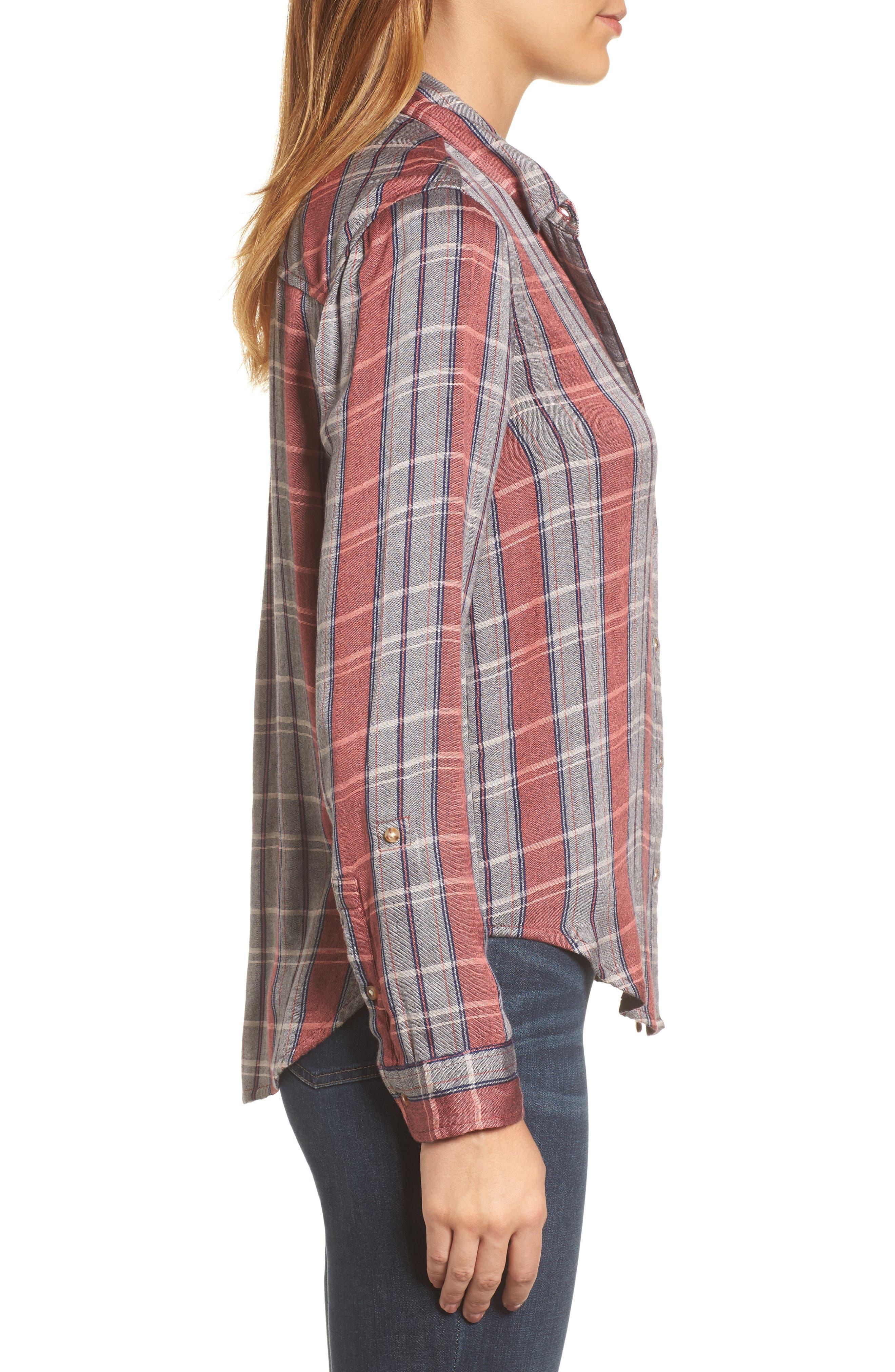 Plaid Pocket Shirt,                             Alternate thumbnail 3, color,                             065