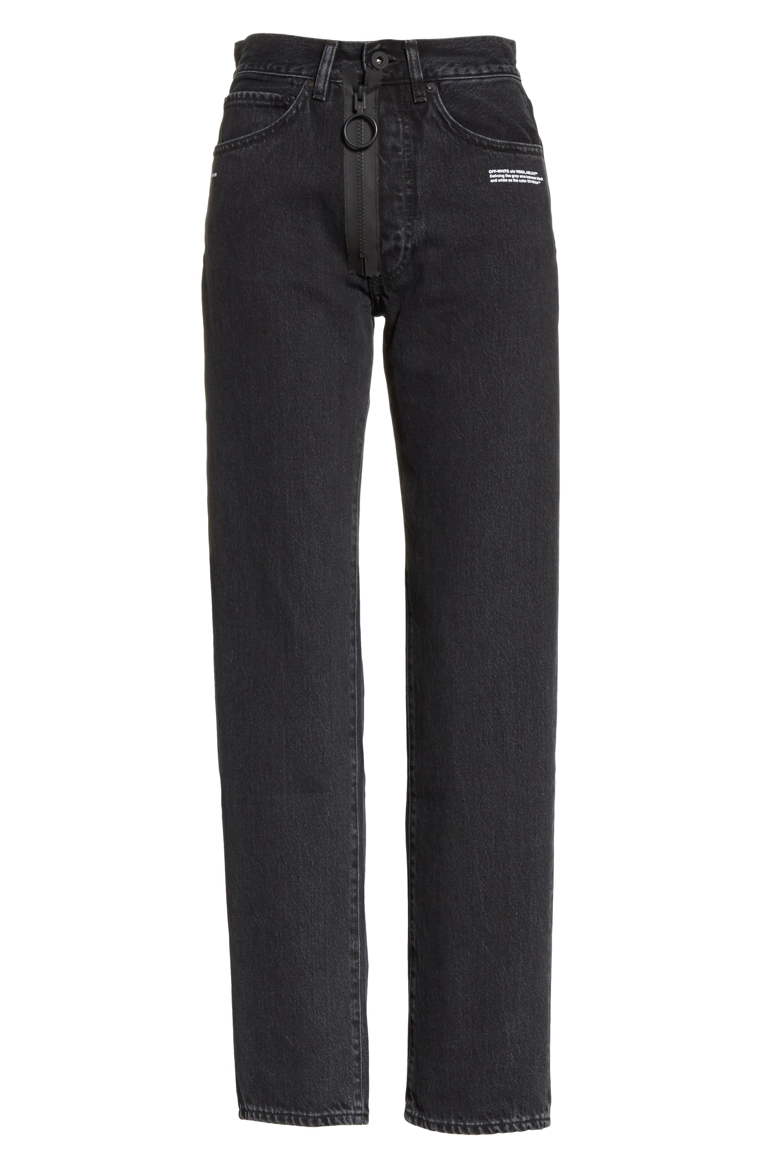 Classic Straight Leg Jeans,                             Alternate thumbnail 6, color,                             001