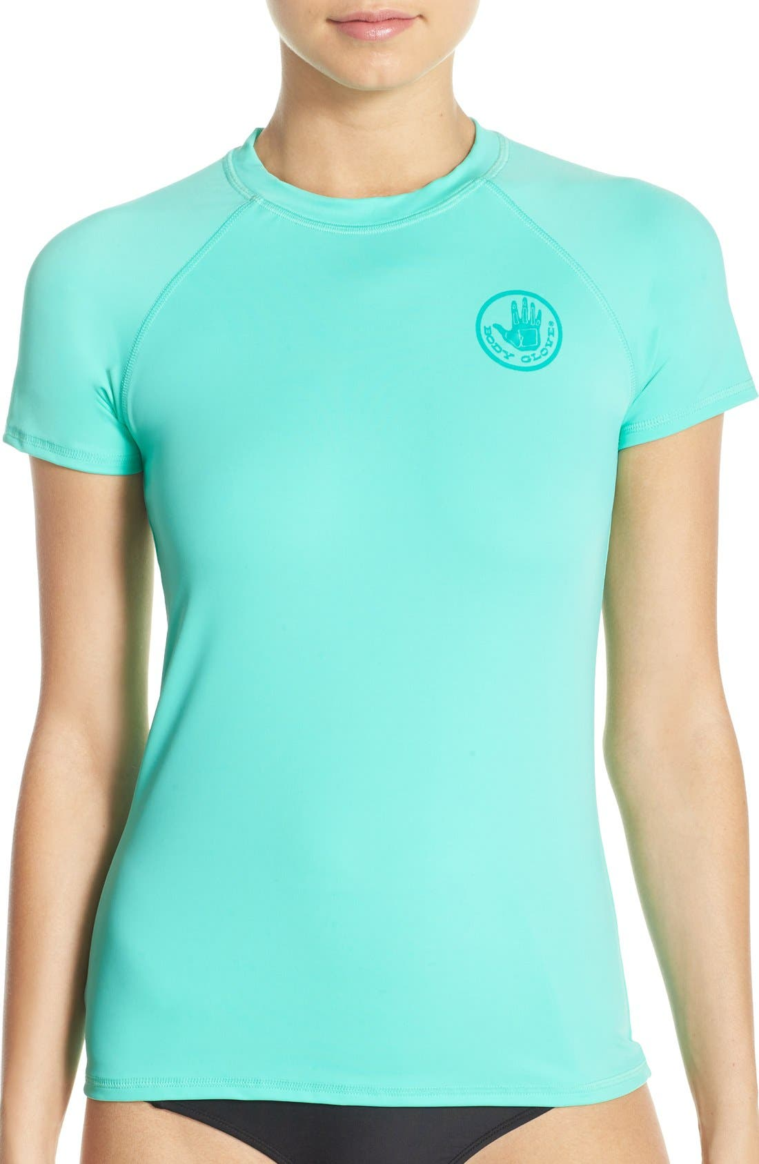 'Smoothies in Motion' Short Sleeve Rashguard,                             Main thumbnail 3, color,