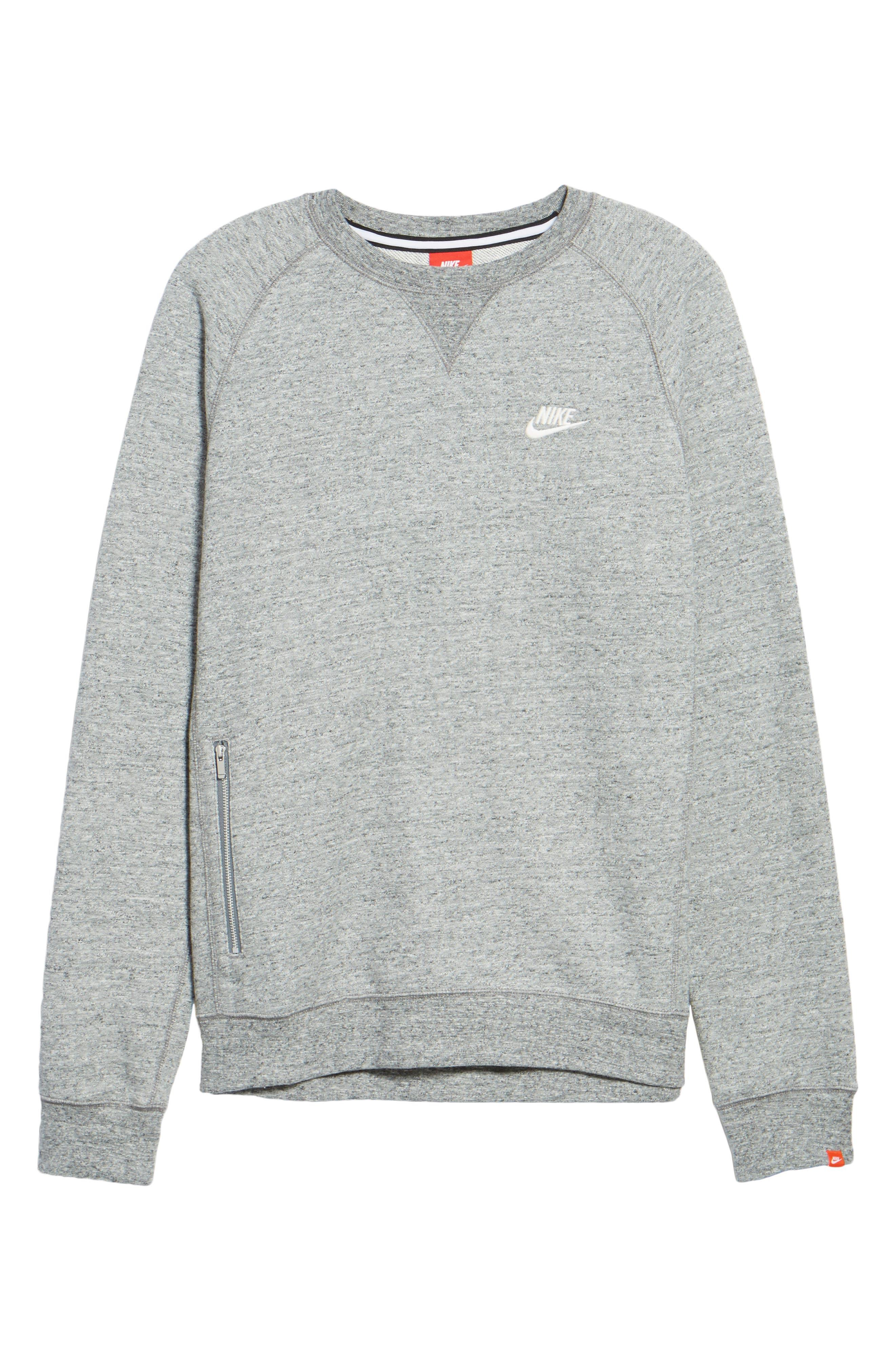 Legacy Raglan Crewneck Sweatshirt,                             Alternate thumbnail 6, color,                             092