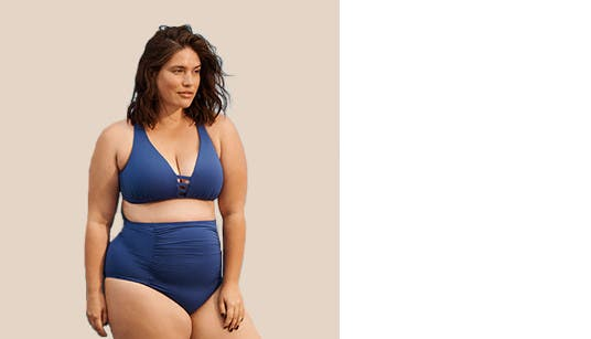 Women's plus-size vacation clothing.