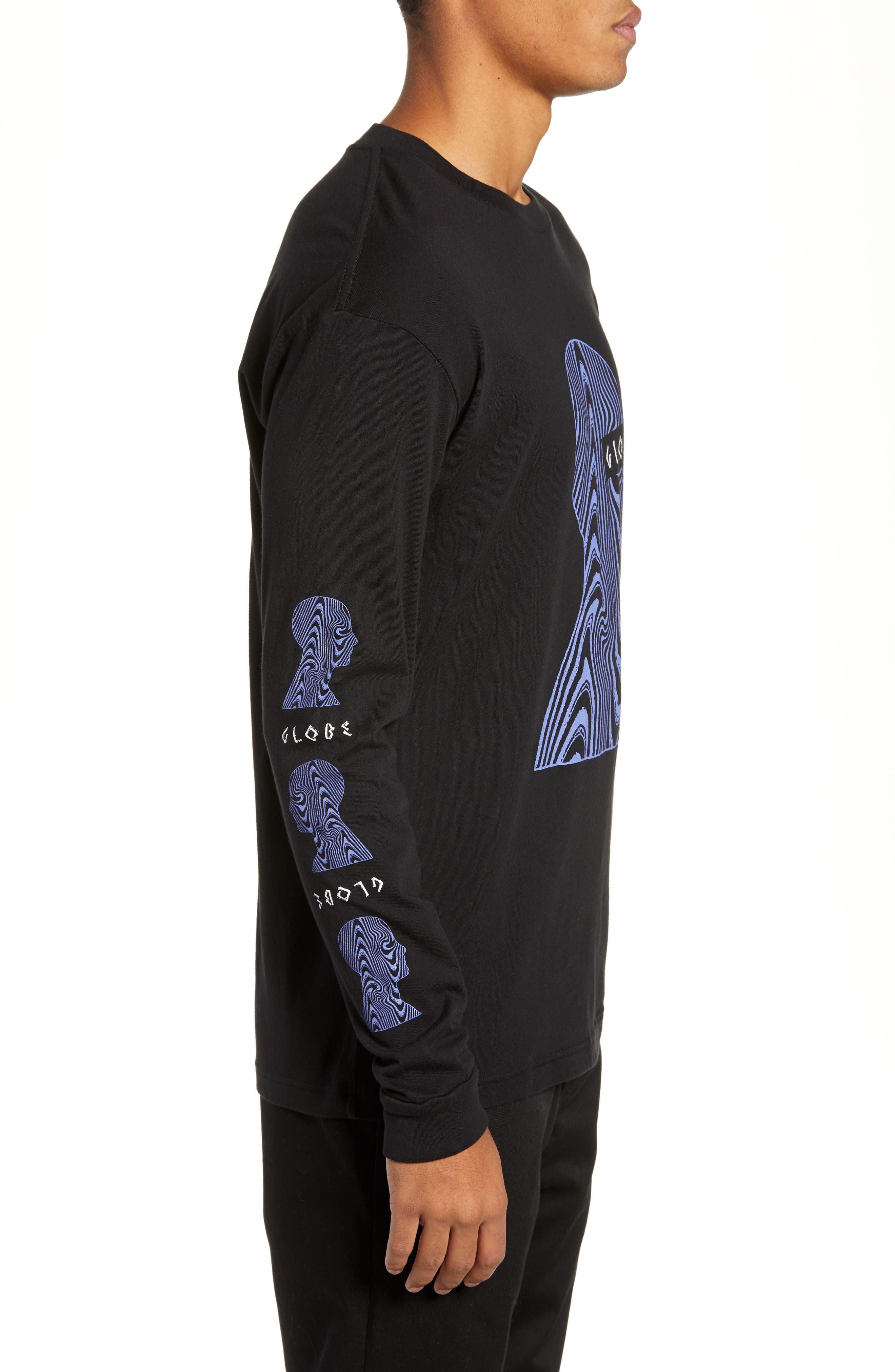 Oracle Long Sleeve T-Shirt,                             Alternate thumbnail 3, color,                             BLACK