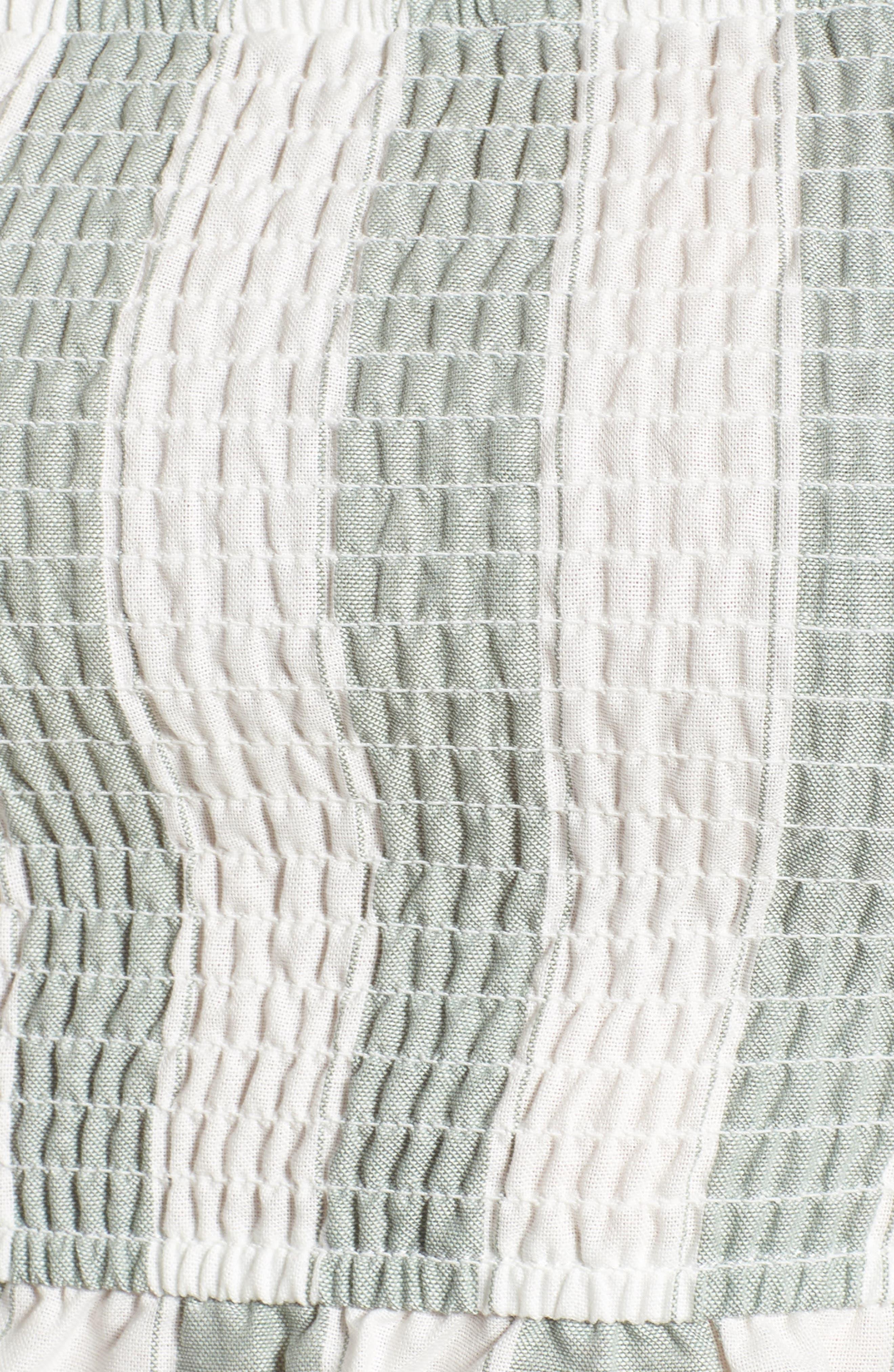 Poetic Stripe Off the Shoulder Crop Top,                             Alternate thumbnail 5, color,                             104
