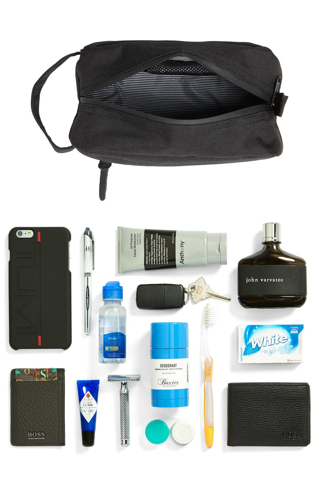 'Chapter' Toiletry Case,                             Alternate thumbnail 6, color,                             BLACK