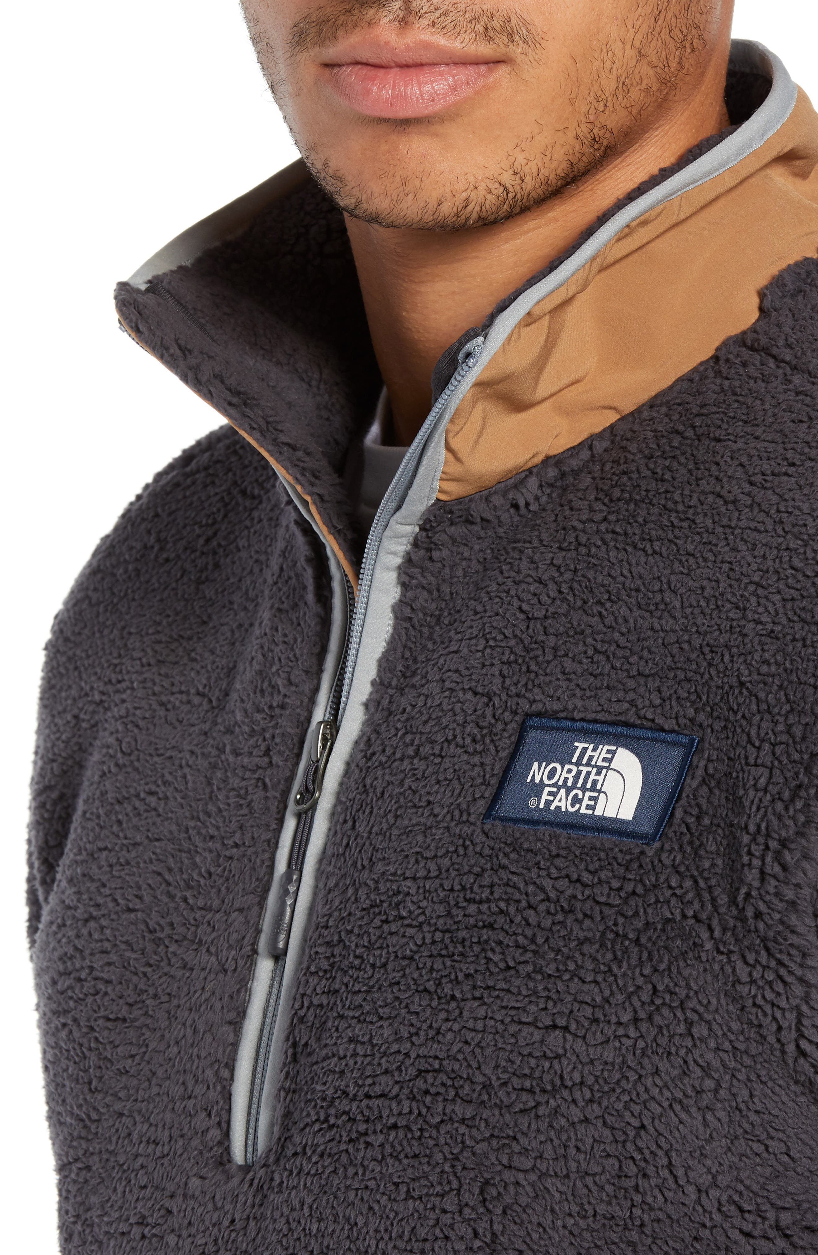 THE NORTH FACE,                             Campshire Pullover Fleece Jacket,                             Alternate thumbnail 5, color,                             001