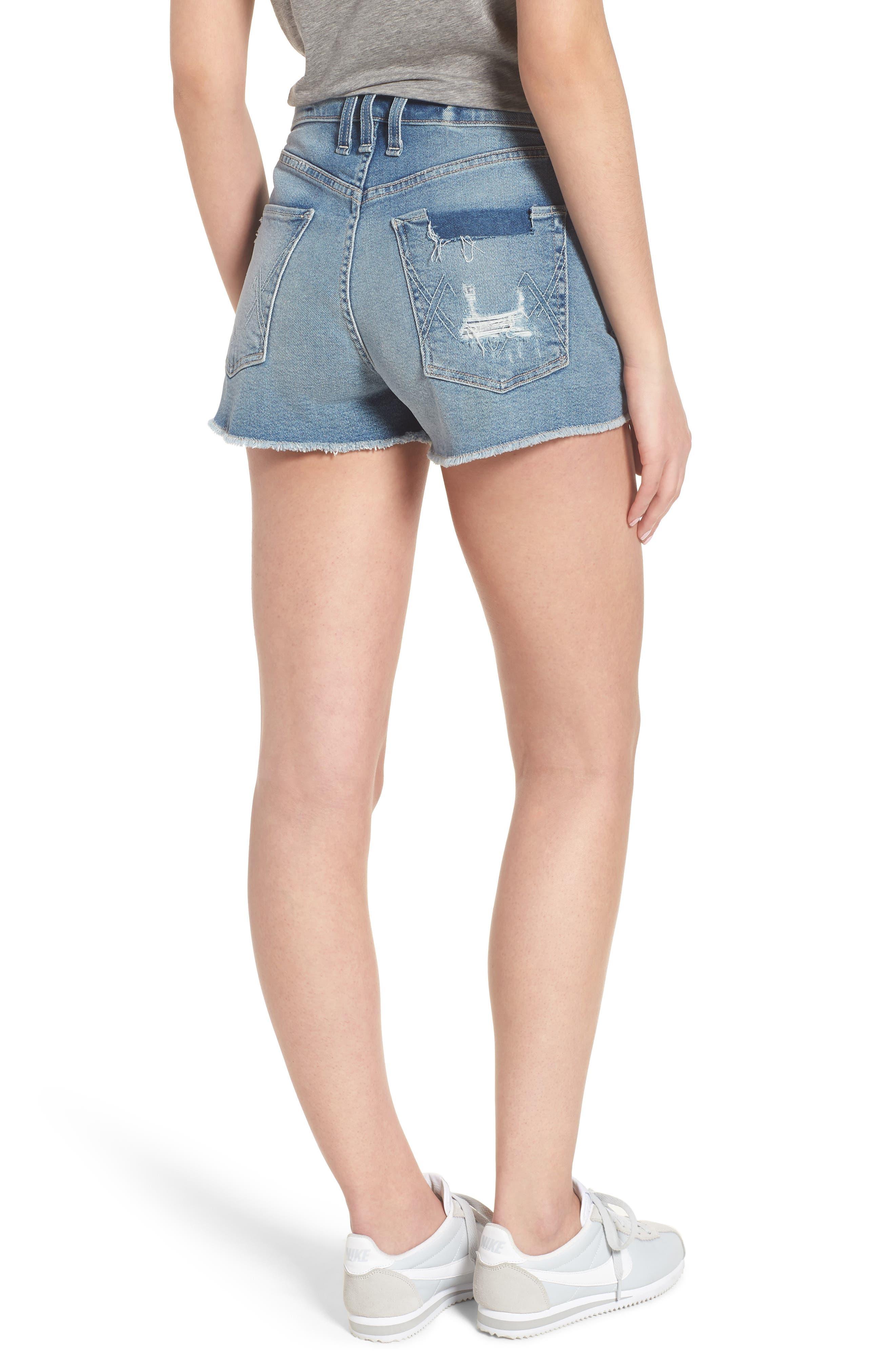 Georgia May Distressed Denim Shorts,                             Alternate thumbnail 2, color,                             450