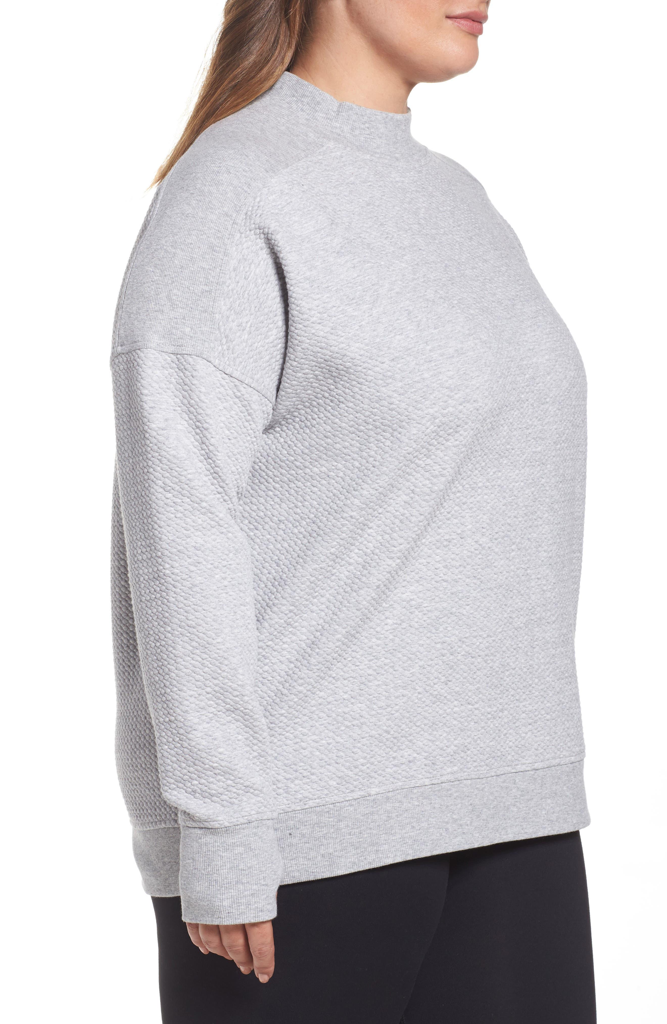 Textured Sweatshirt,                             Alternate thumbnail 3, color,                             050