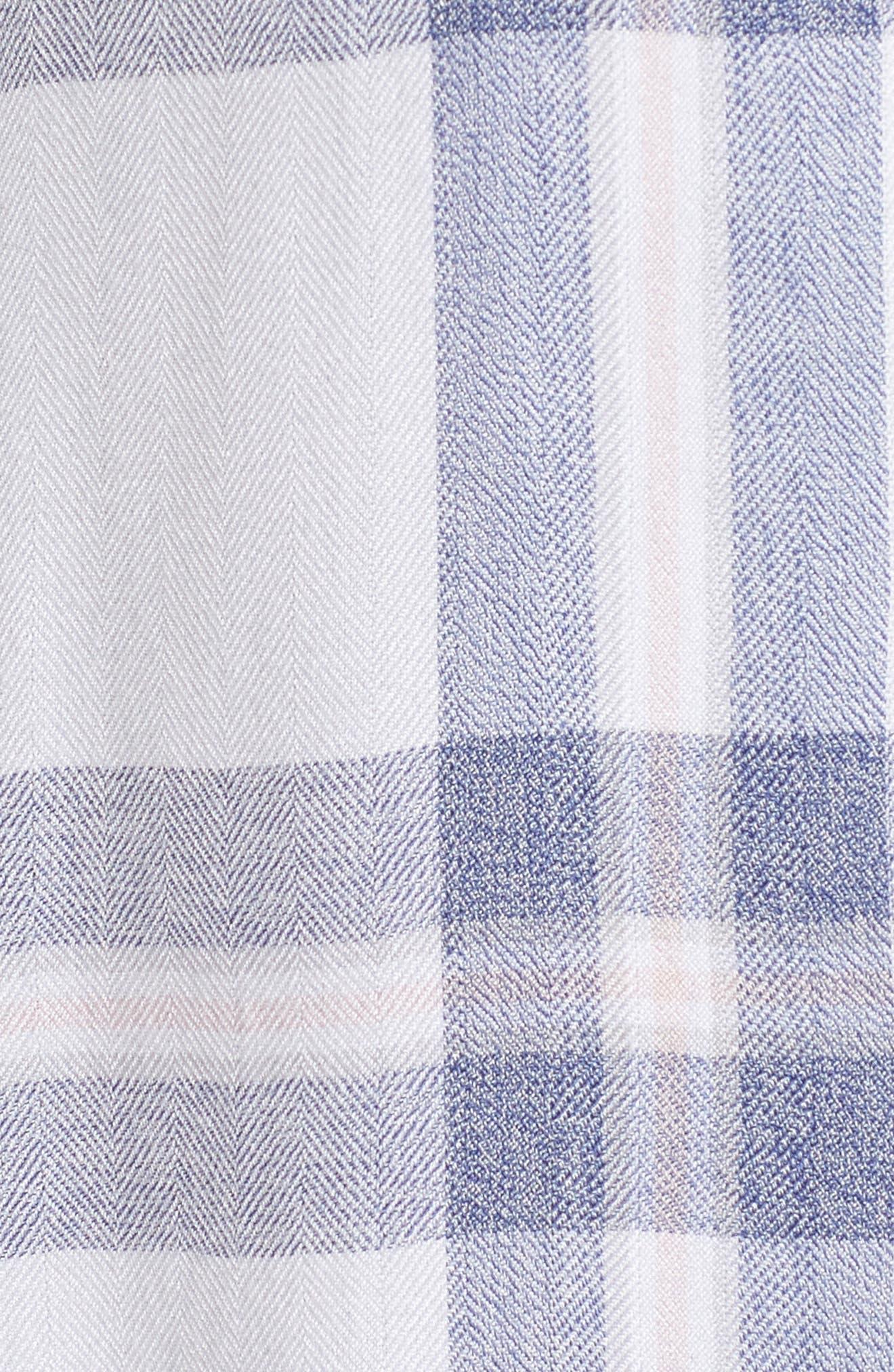 Plaid Pajamas,                             Alternate thumbnail 5, color,                             WHITE/ CHAMBRAY/ PETAL
