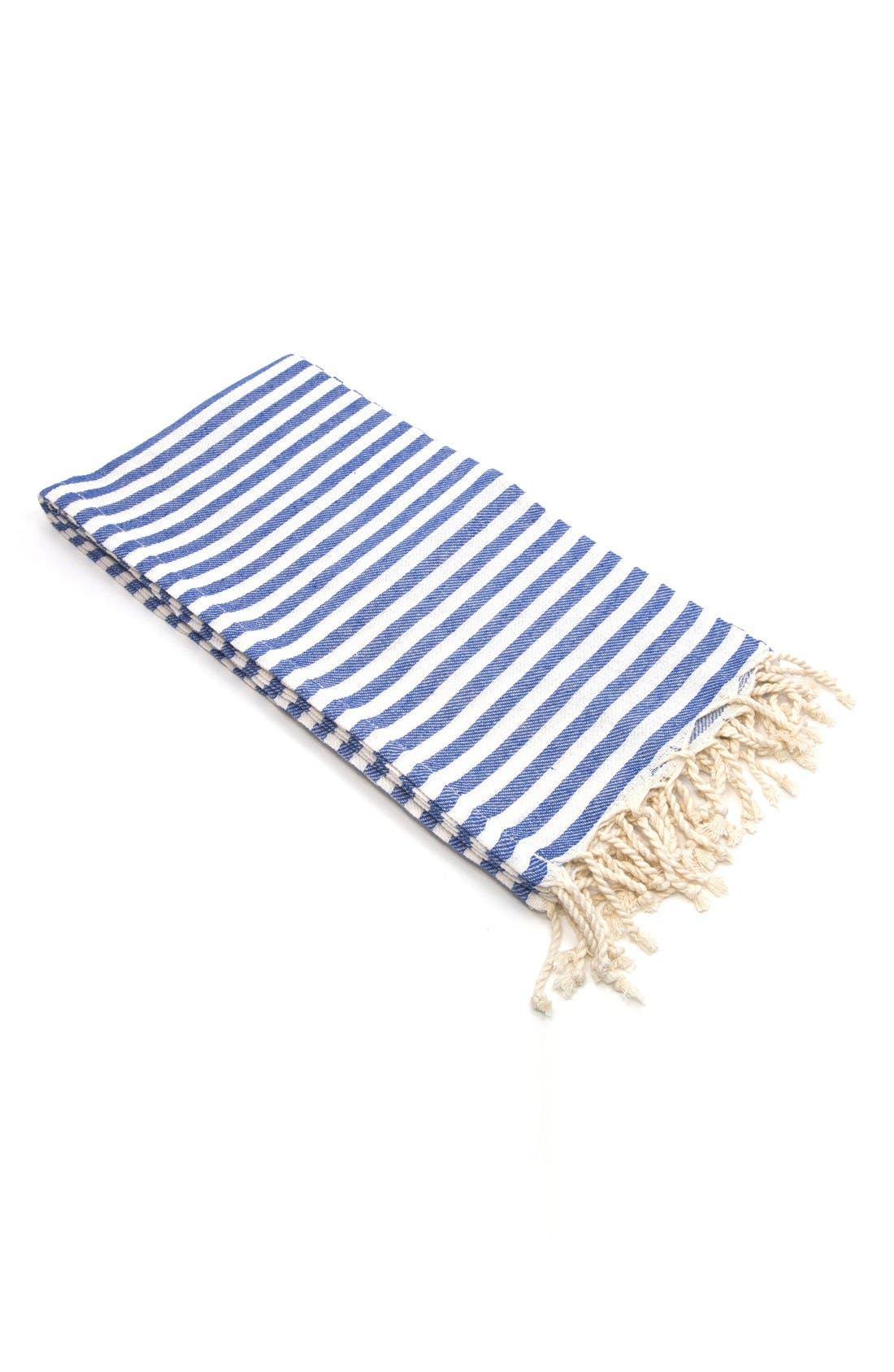 LINUM HOME TEXTILES,                             'Fun in the Sun' Turkish Pestemal Towel,                             Main thumbnail 1, color,                             OCEAN BLUE