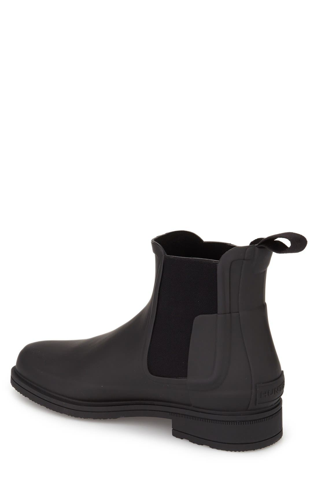 Original Refined Waterproof Chelsea Boot,                             Alternate thumbnail 2, color,                             BLACK RUBBER