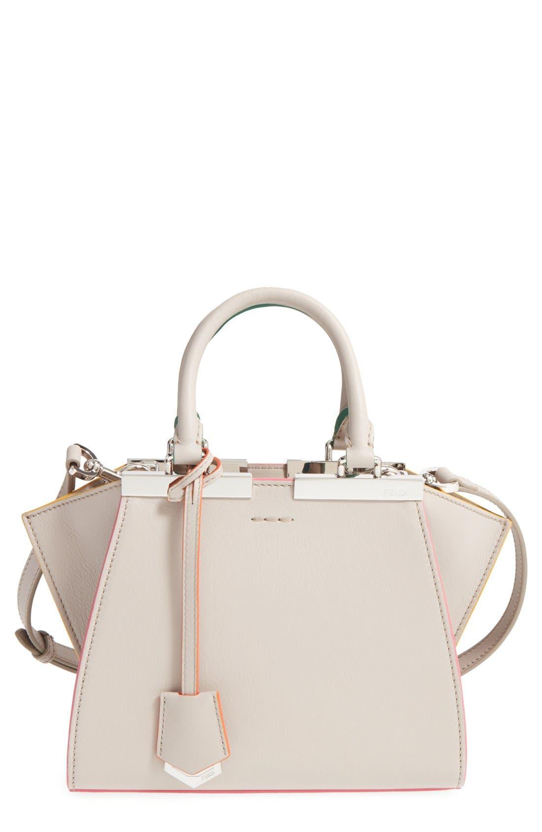 'Mini 3Jours' Calfskin Leather Shopper,                             Main thumbnail 3, color,