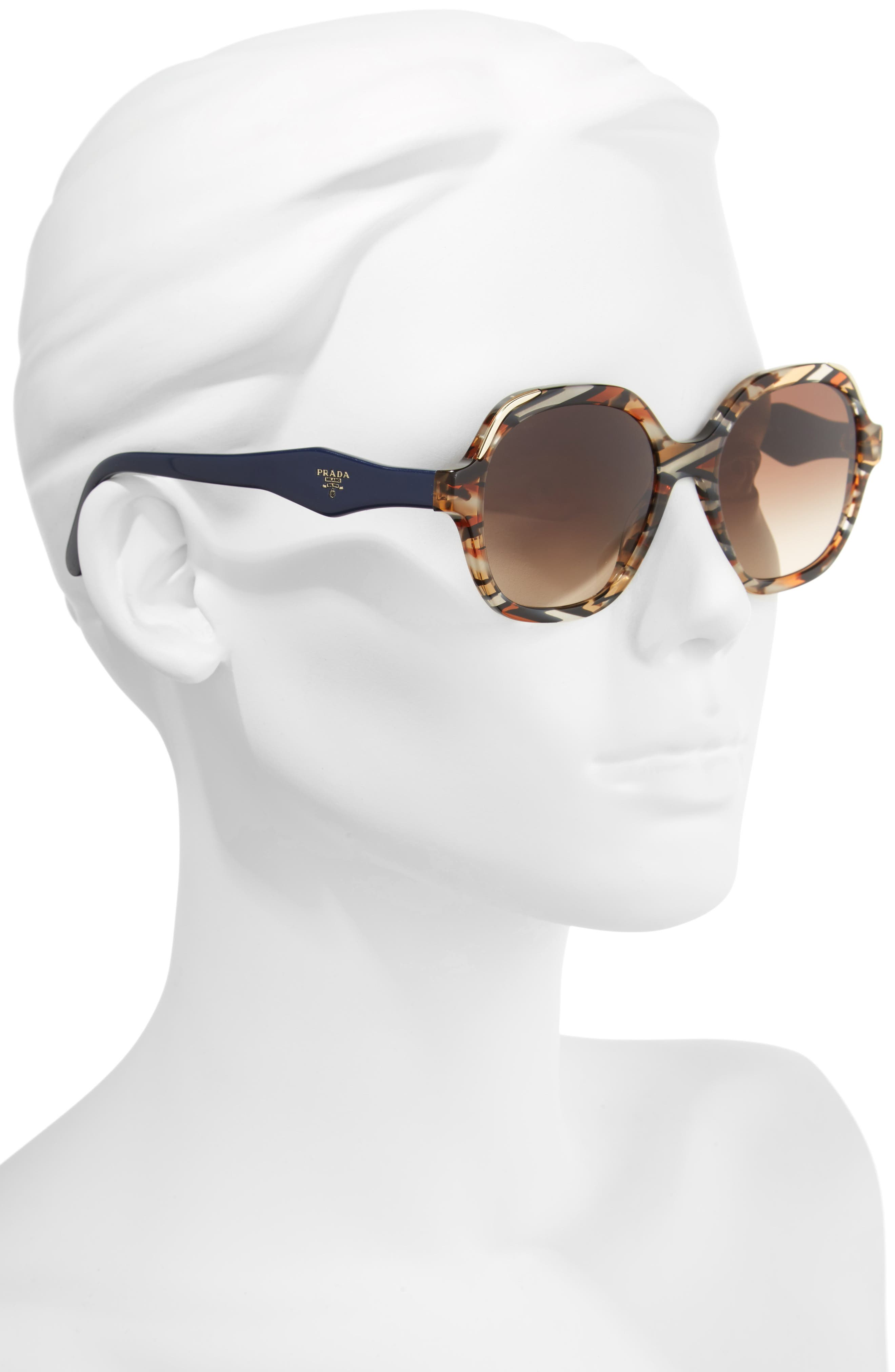 52mm Geometric Gradient Sunglasses,                             Alternate thumbnail 6, color,