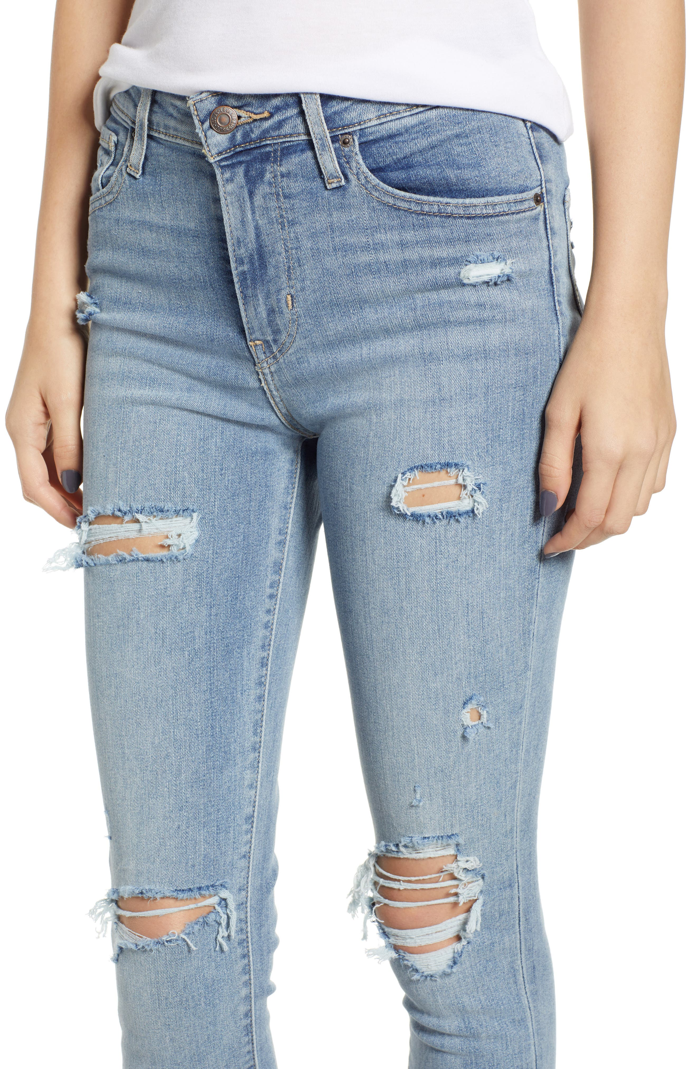 721<sup>™</sup> High Waist Skinny Jeans,                             Alternate thumbnail 4, color,                             SAY ANYTHING