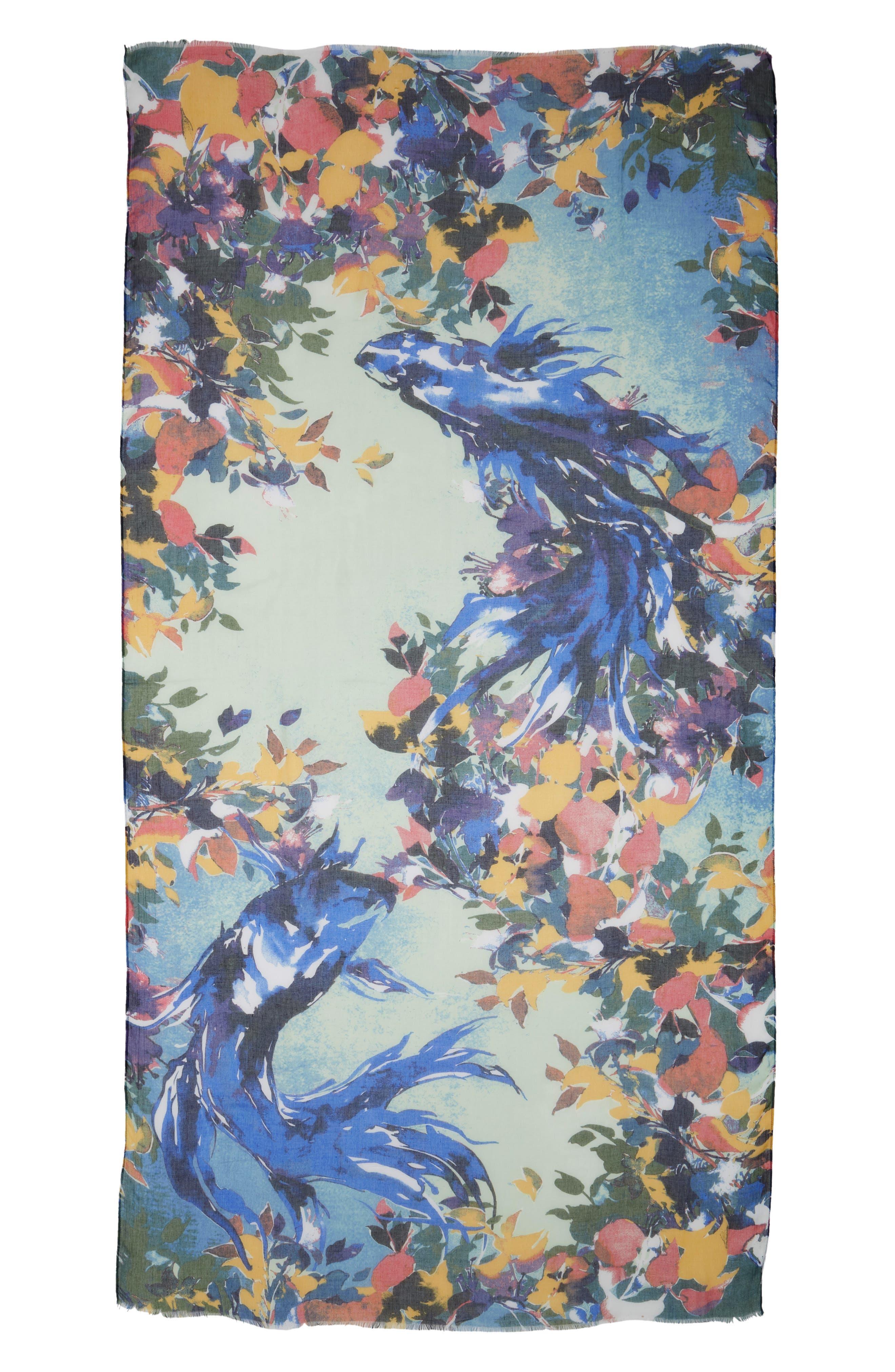 Print Modal & Silk Scarf,                             Alternate thumbnail 30, color,