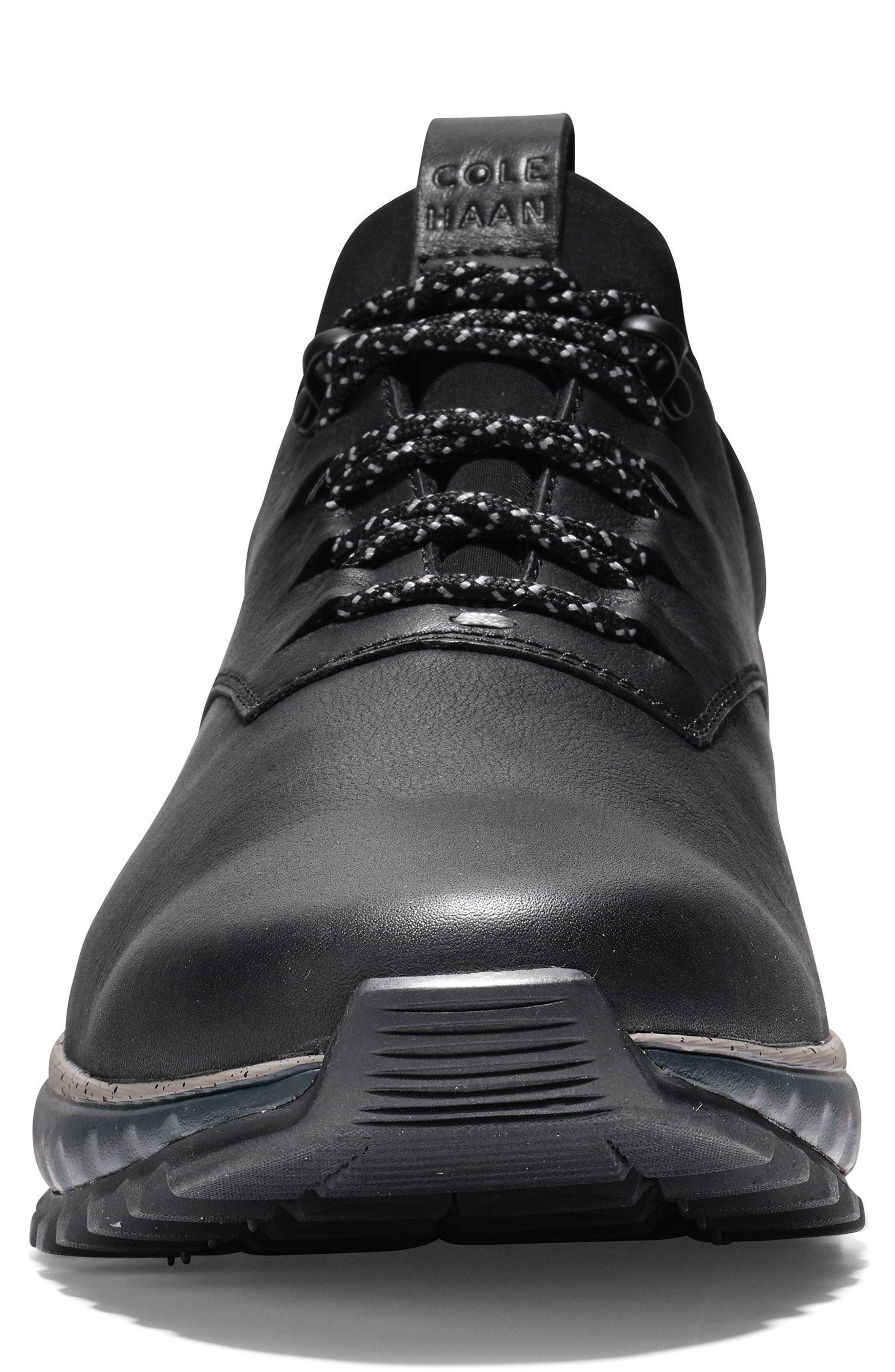 GrandExpløre All Terrain Waterproof Sneaker,                             Alternate thumbnail 4, color,                             BLACK/ IRONSTONE LEATHER