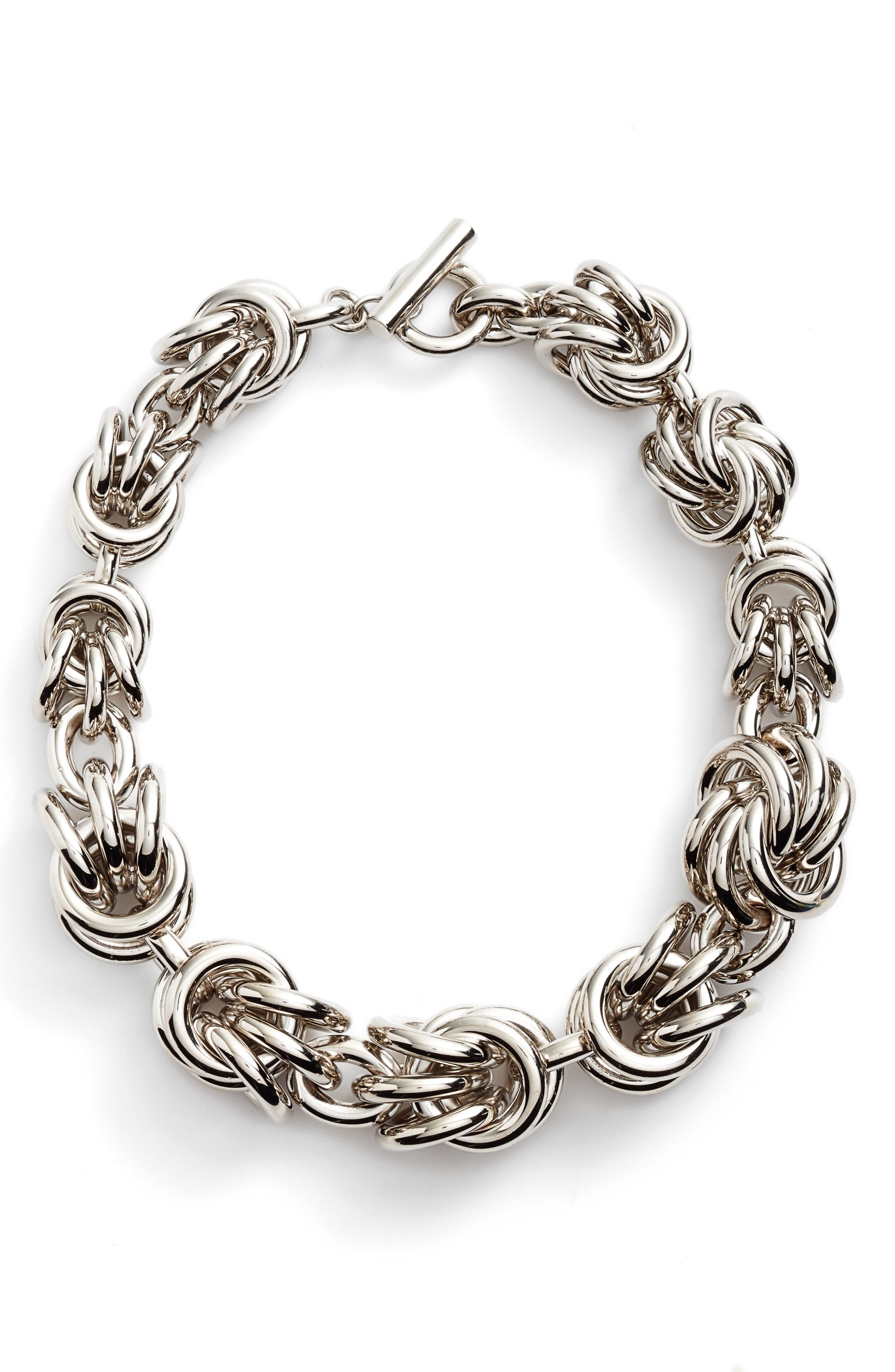 Knot Link Necklace,                             Main thumbnail 1, color,                             040