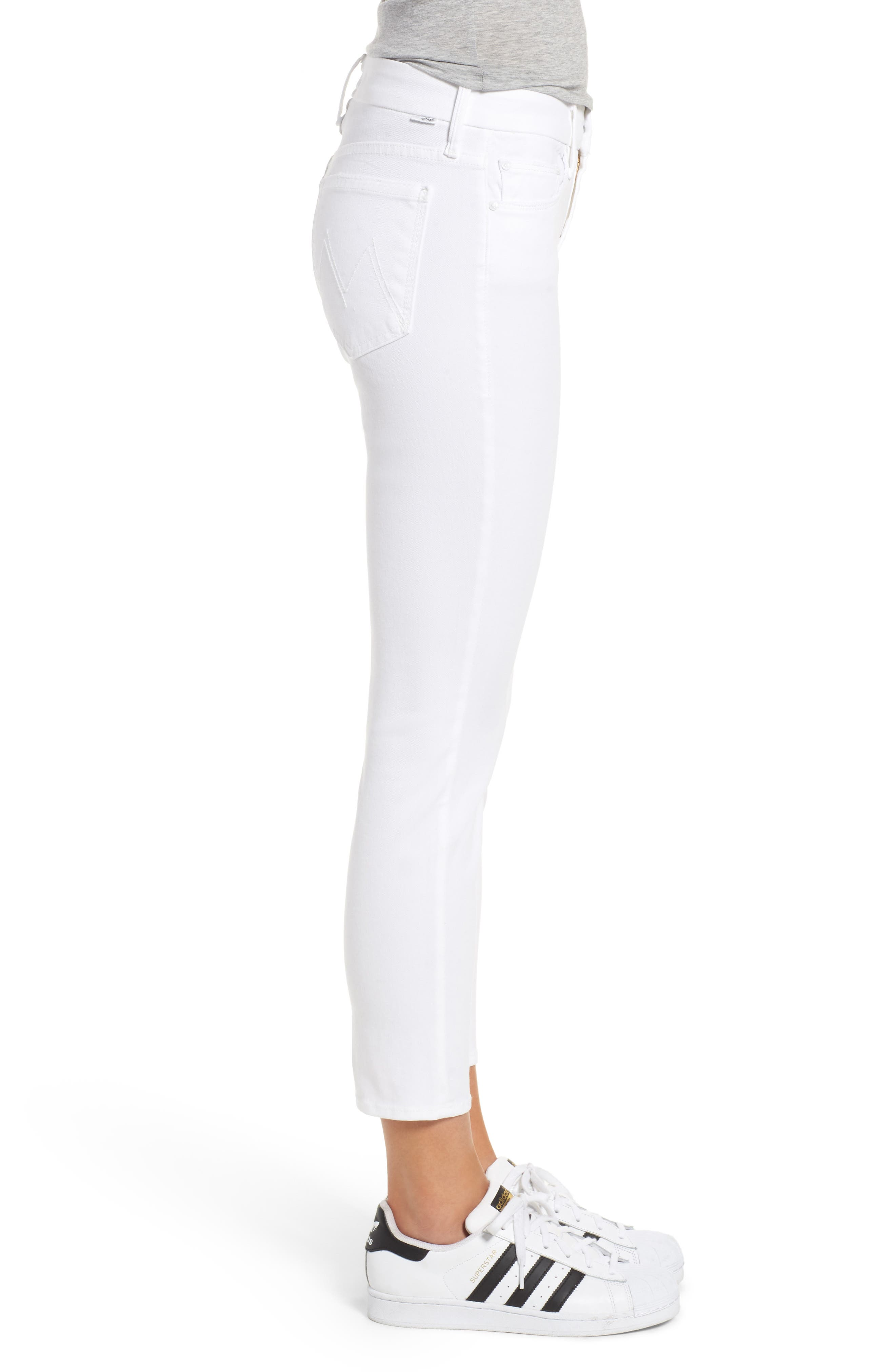 The Looker Crop Jeans,                             Alternate thumbnail 3, color,                             GLASS SLIPPER