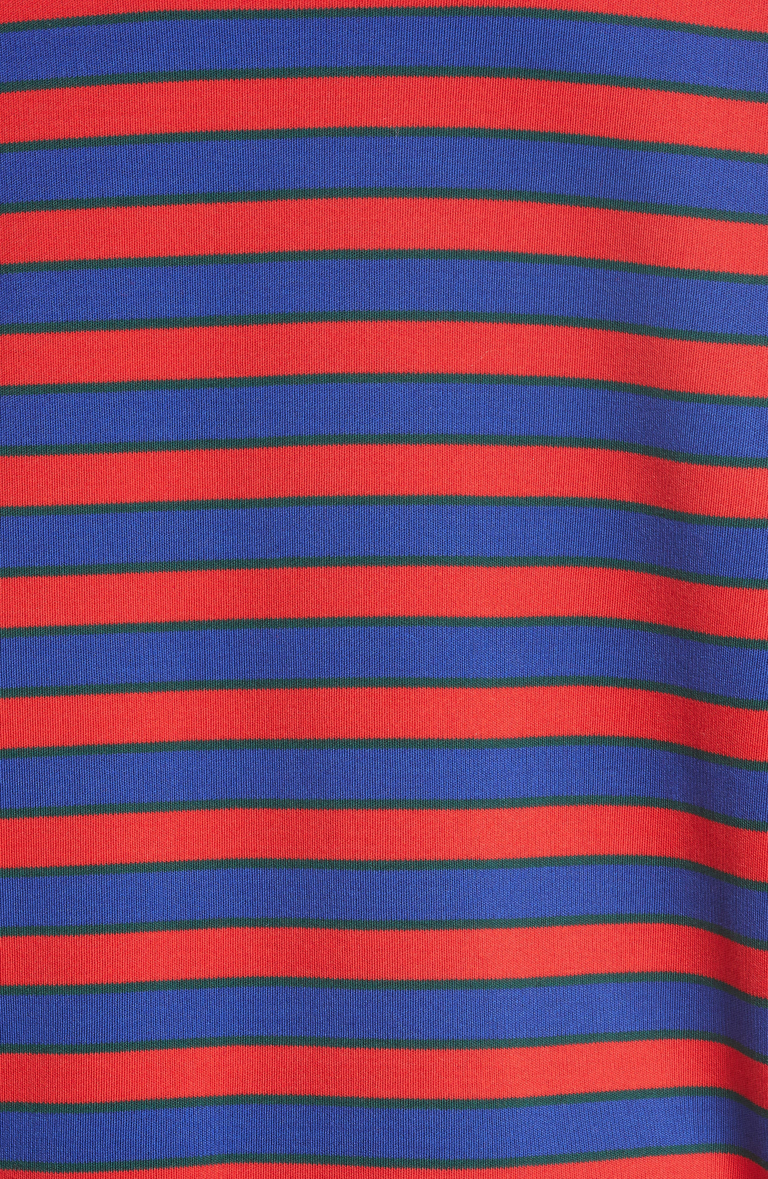 Short Sleeve Stripe Sweater,                             Alternate thumbnail 5, color,                             618