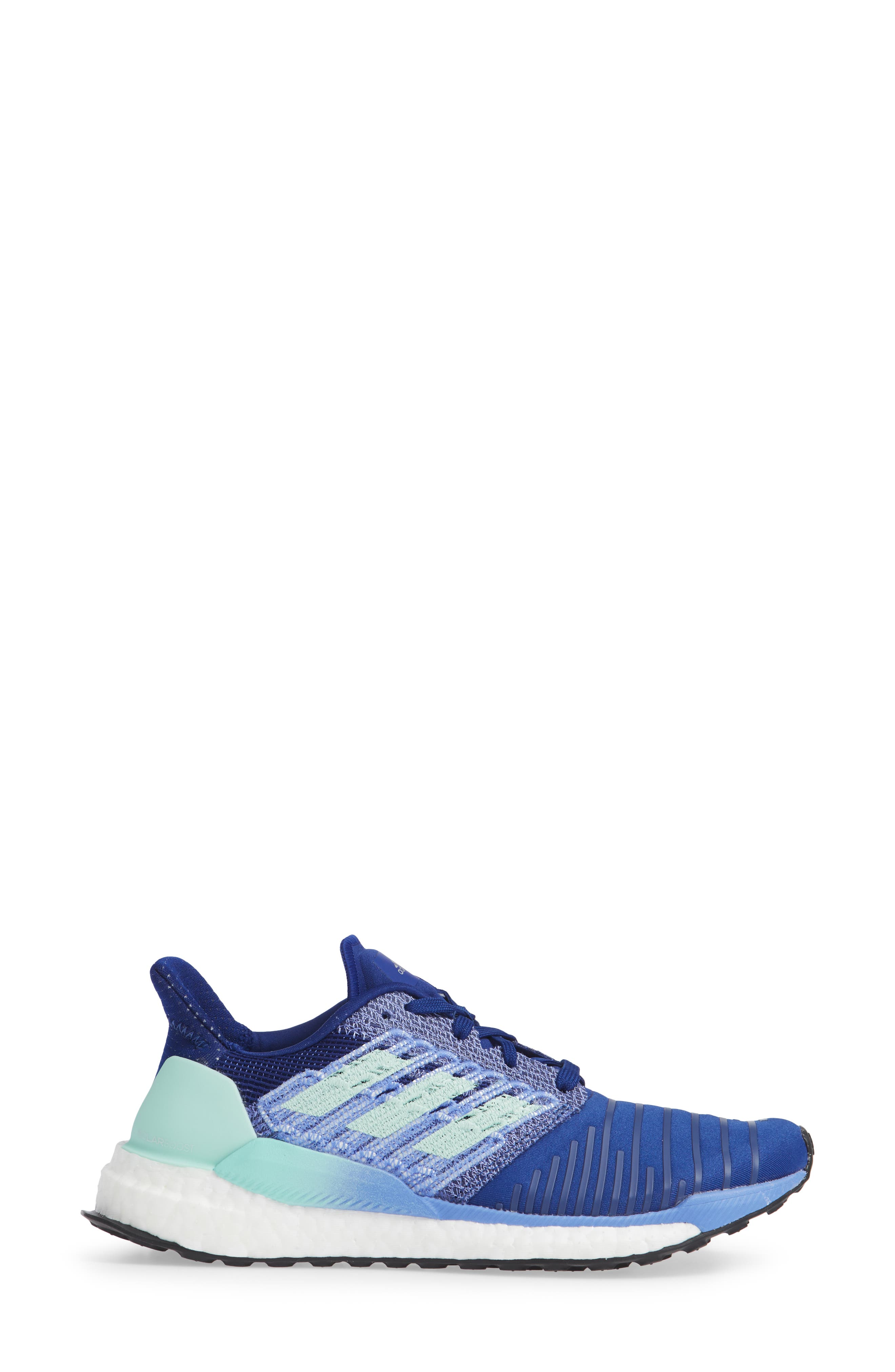 Solarboost Running Shoe,                             Alternate thumbnail 3, color,                             MYSTERY INK/ CLEAR MINT/ LILAC