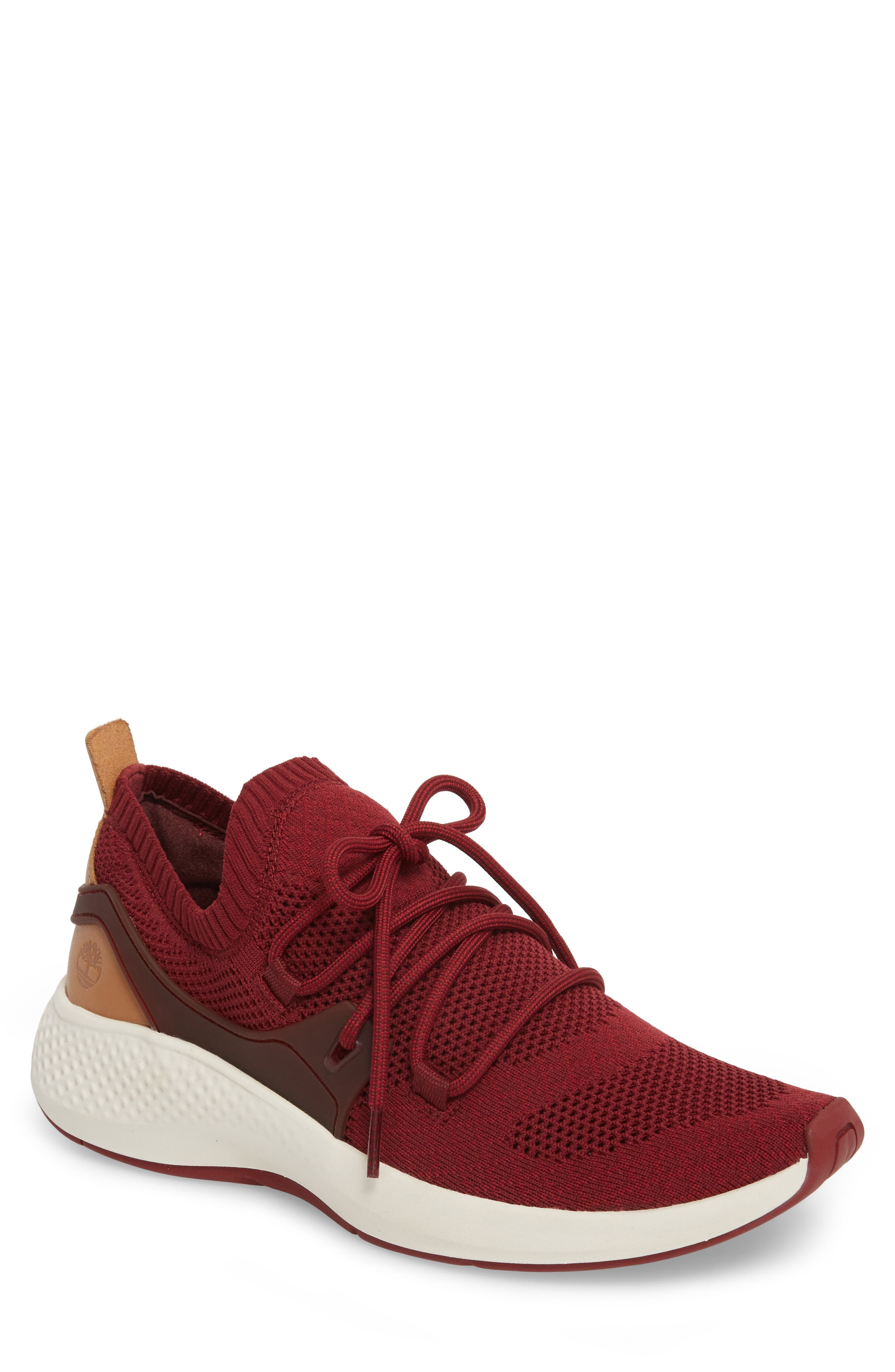 FlyRoam Sneaker,                         Main,                         color, POMEGRANATE LEATHER
