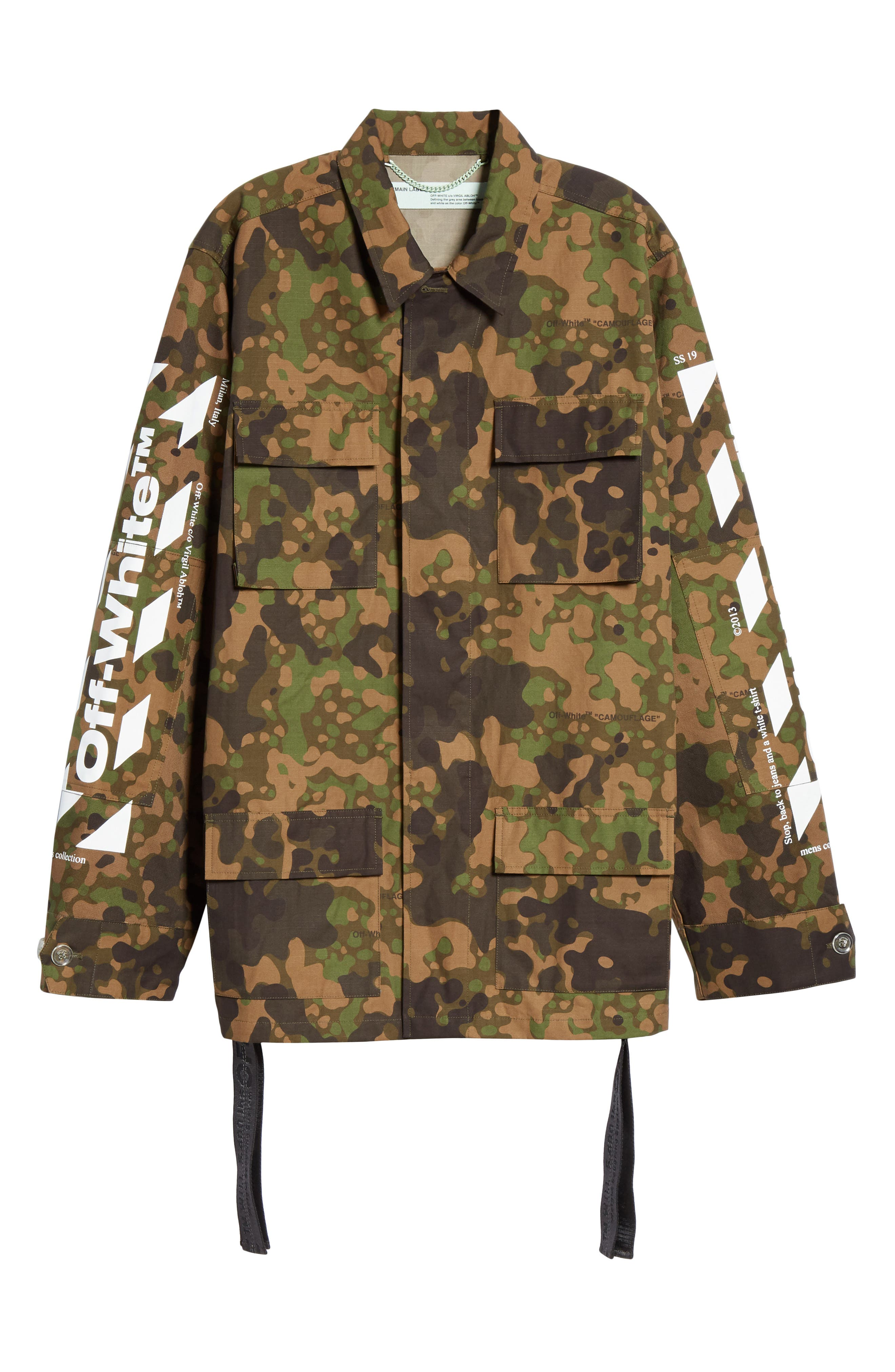OFF-WHITE,                             Camo Field Jacket,                             Alternate thumbnail 5, color,                             CAMOU WHITE