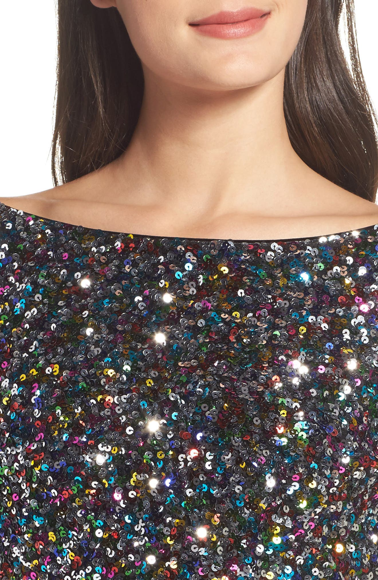 Emery Ombré Sequin Body-Con Dress,                             Alternate thumbnail 18, color,