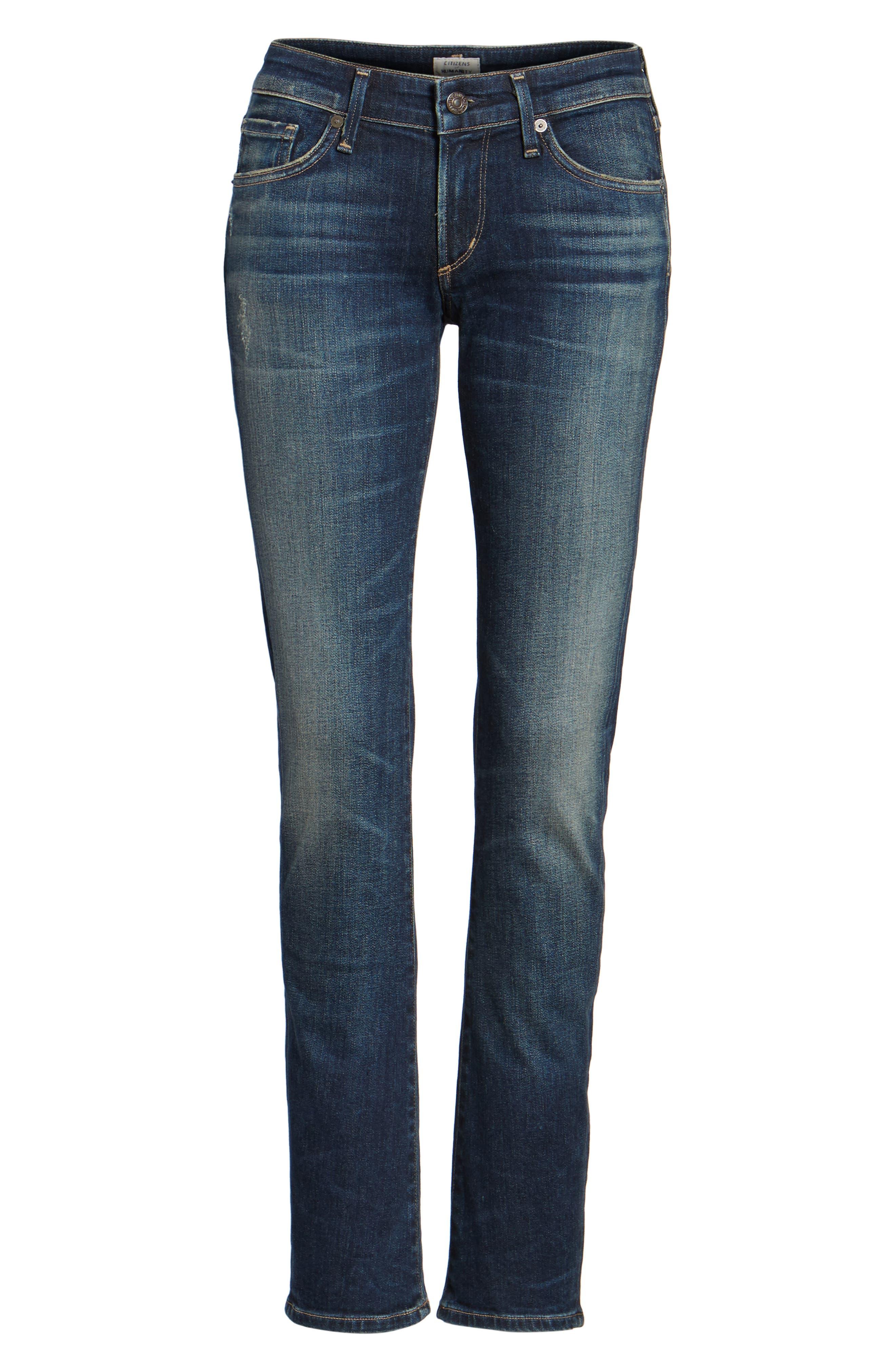 Racer Whiskered Skinny Jeans,                             Alternate thumbnail 6, color,                             403